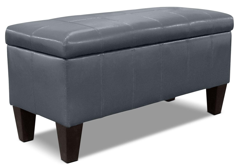 Living Room Furniture - Jackson Storage Ottoman - Grey