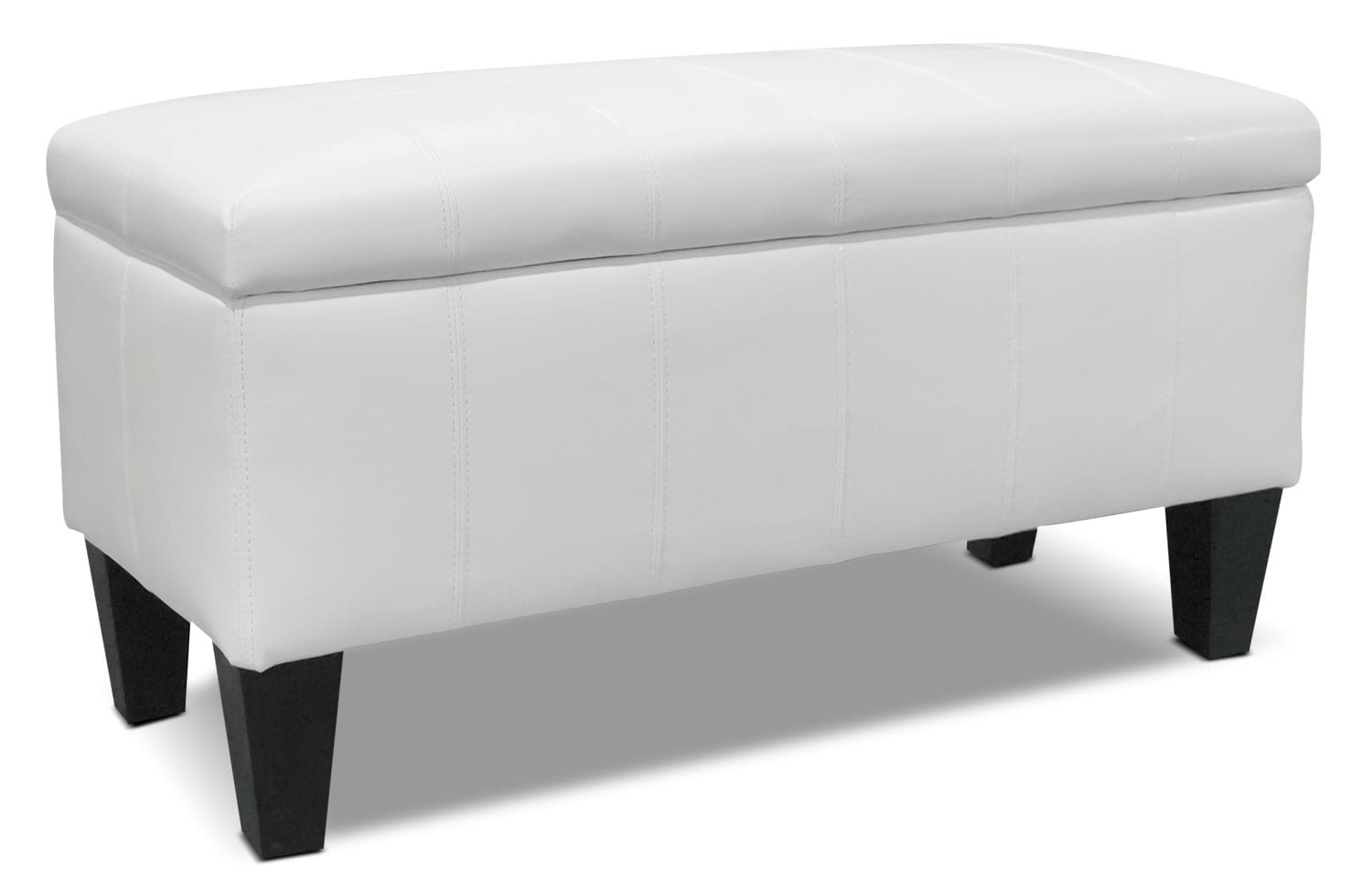 jackson storage ottoman  white  the brick - hover to zoom