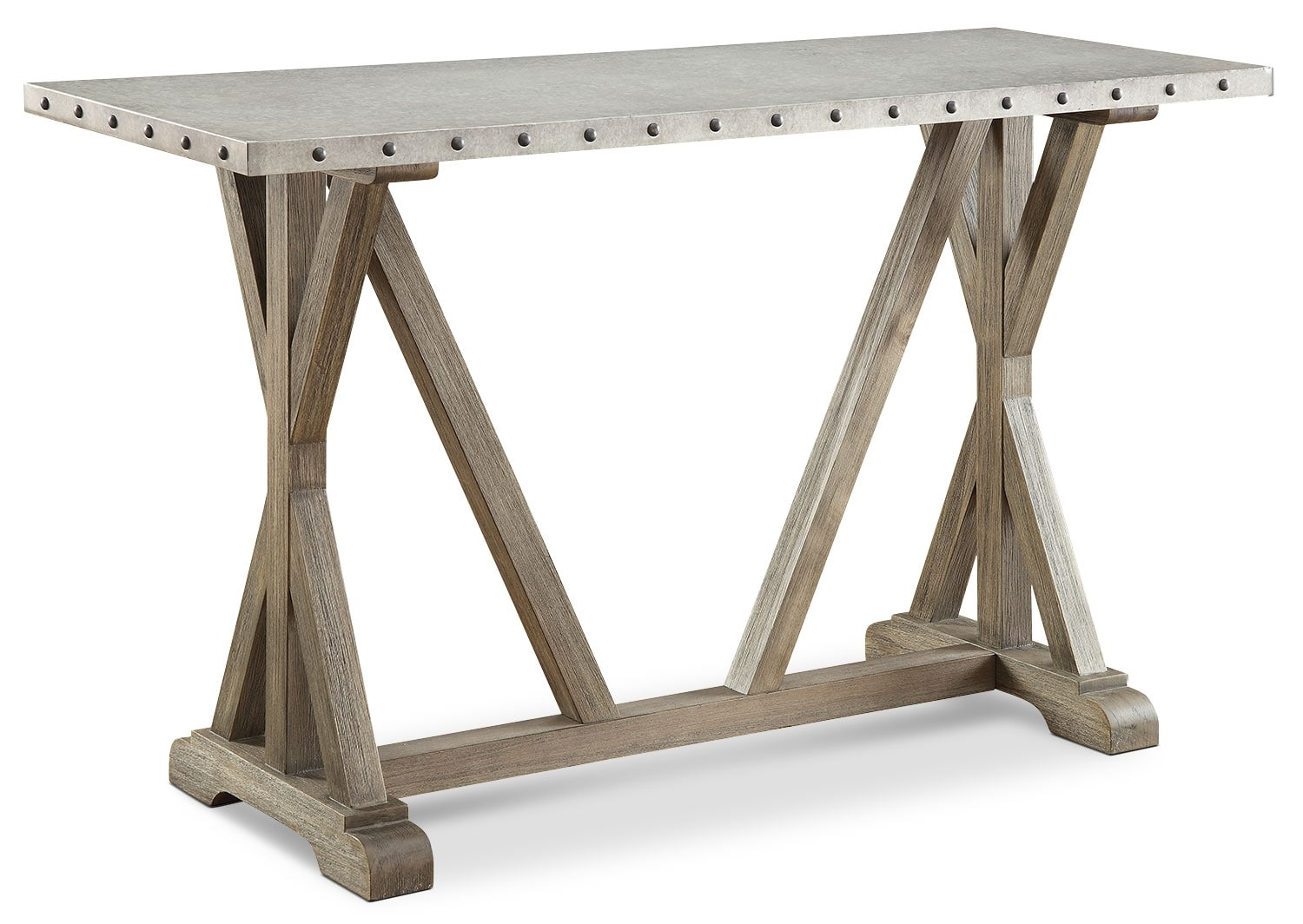 Sutton Console Table with Zinc Top
