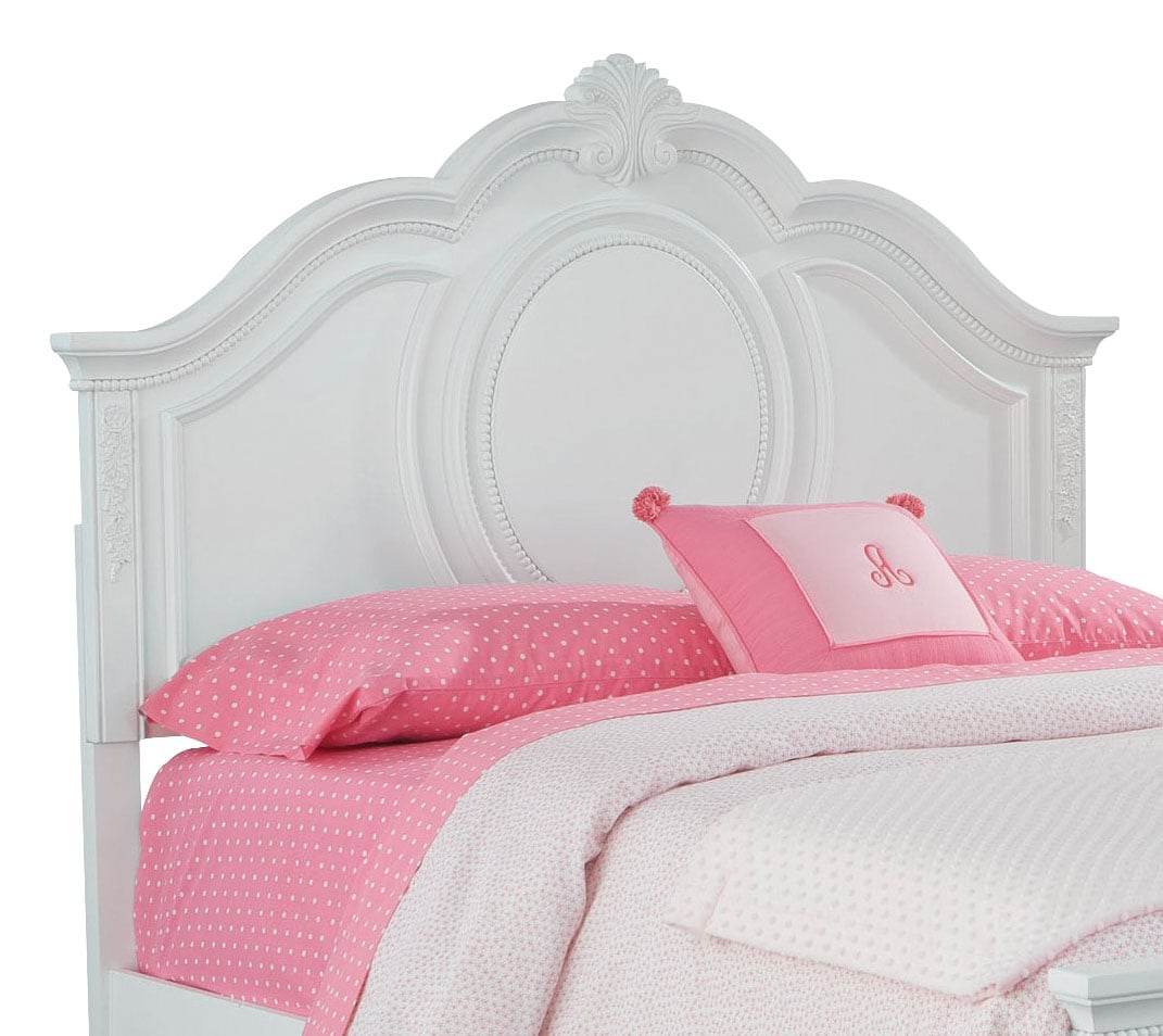 Kids Furniture - Jessica Full Panel Headboard - White