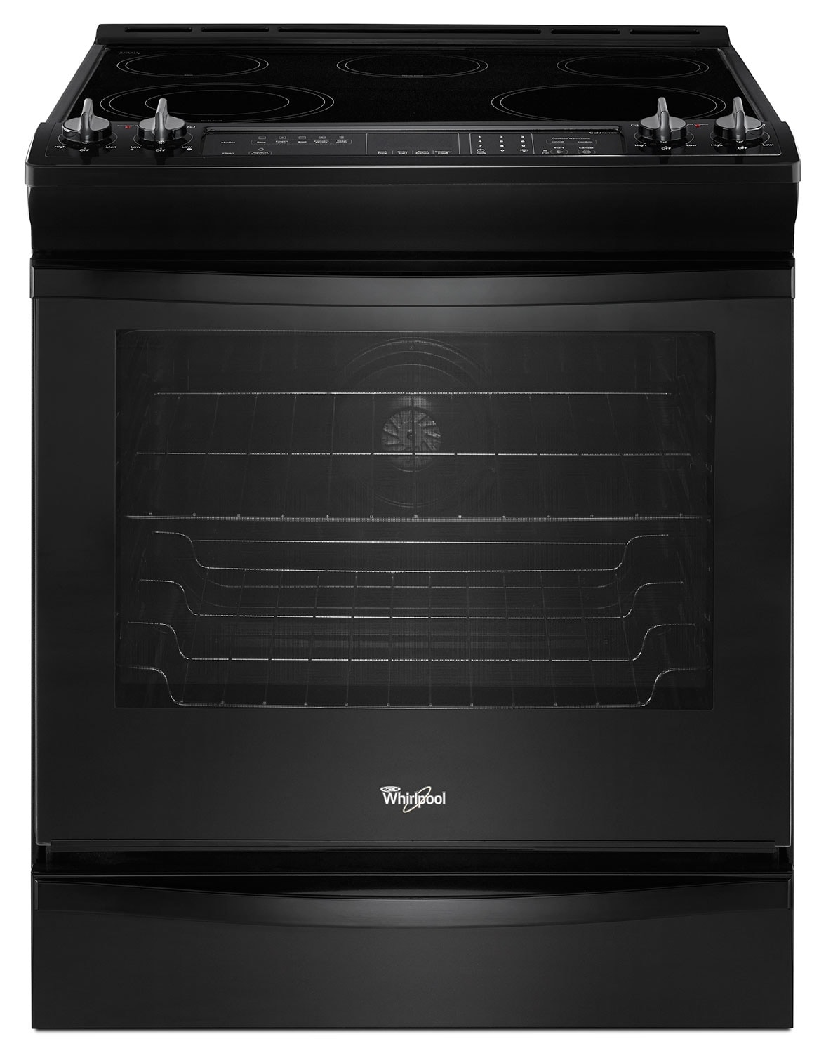 Cooking Products - Whirlpool Black Slide-In Electric Convection Range (6.2 Cu. Ft.) - YWEE730H0DB