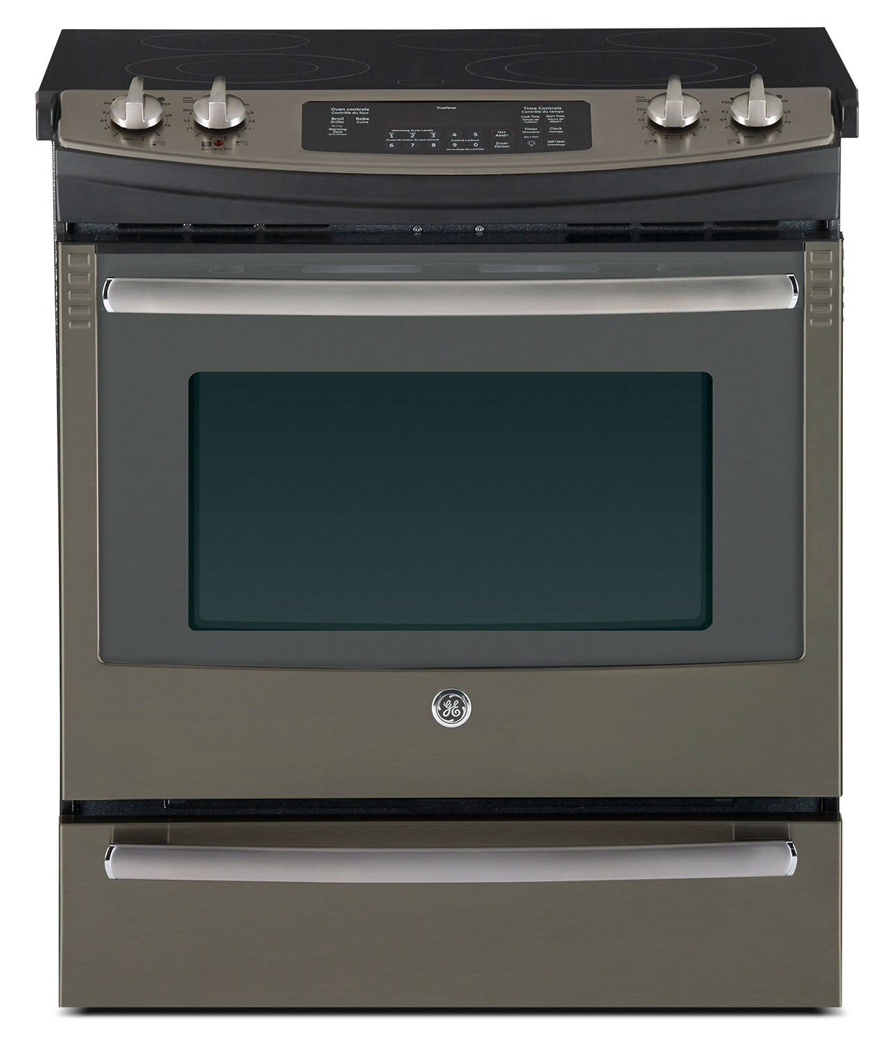 Cooking Products - GE Stainless Steel Slide-In Electric Convection Range (5.2 Cu. Ft.) - JCS860SFSS