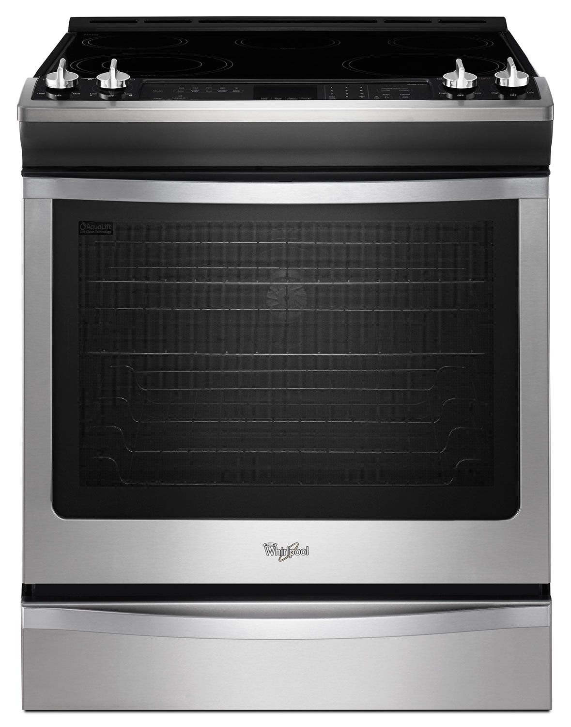 [Whirlpool Stainless Steel Slide-In Electric Convection Range (6.2 Cu. Ft.) - YWEE760H0DS]