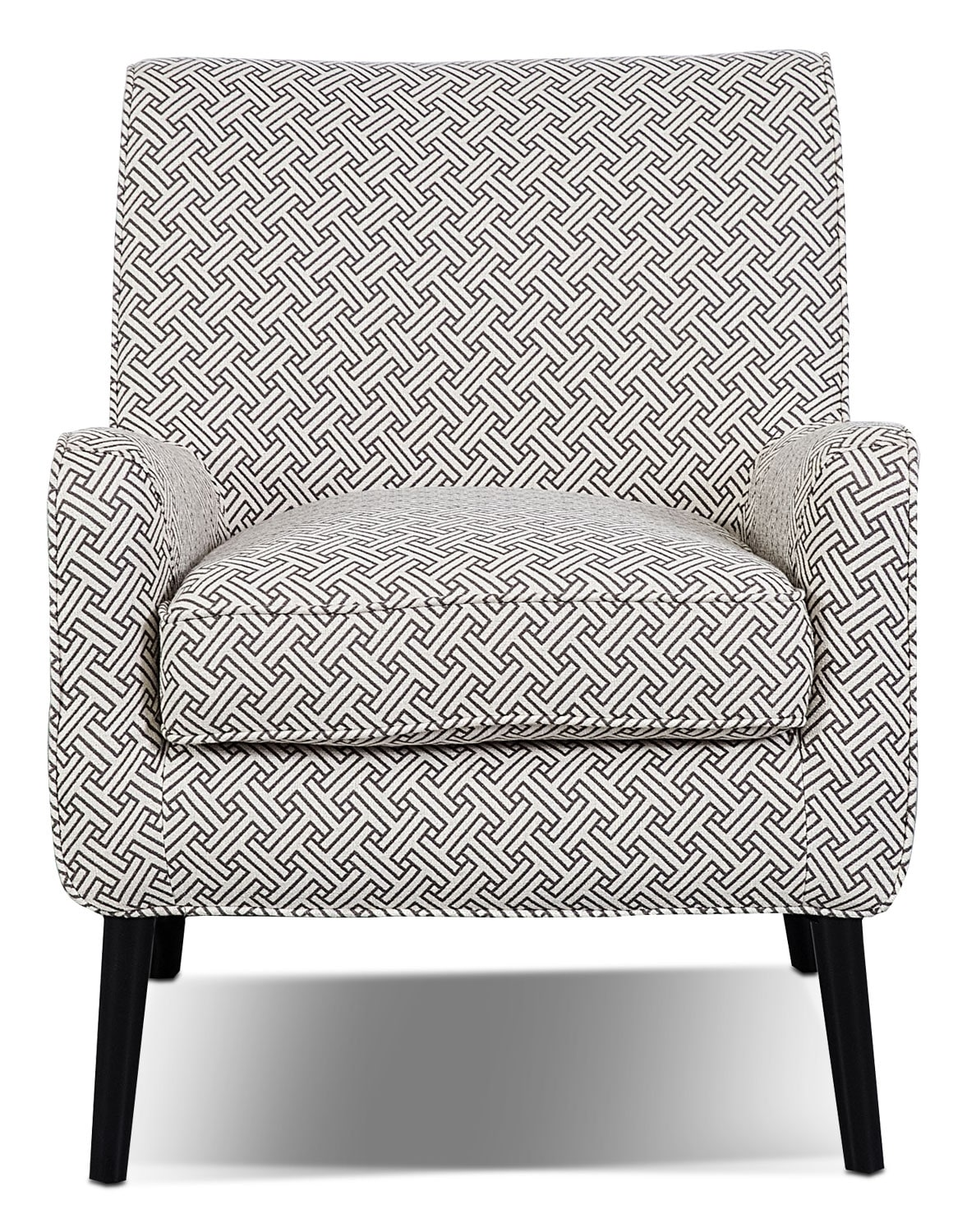 Galo Linen-Look Fabric Accent Chair - Stencil