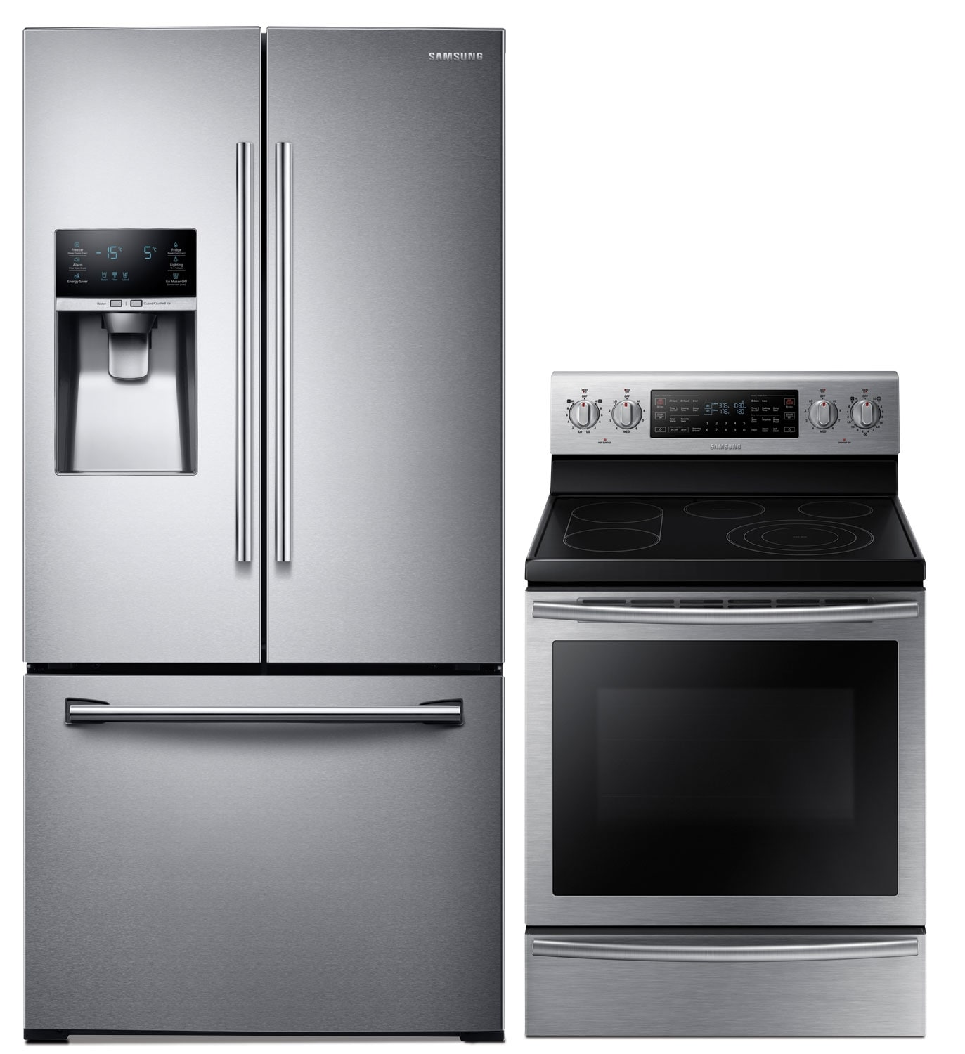 Cooking Products - Samsung 25.5 Cu. Ft. Refrigerator and 5.9 Cu. Ft. Electric Range