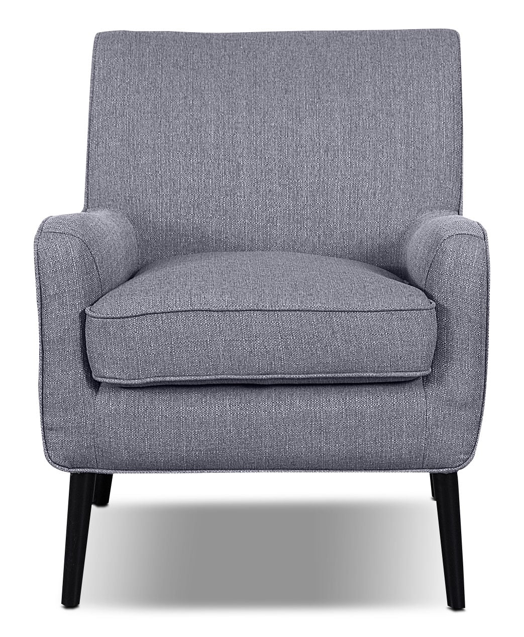 Galo Linen-Look Fabric Accent Chair - Granite