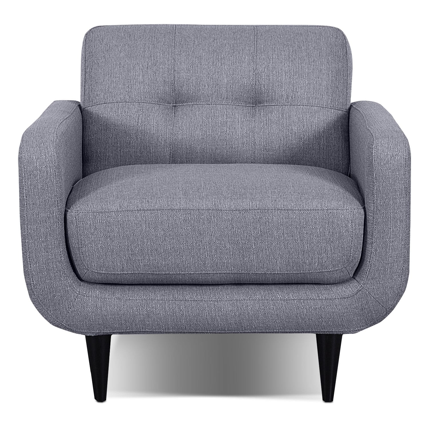 Galo Linen-Look Fabric Chair - Granite