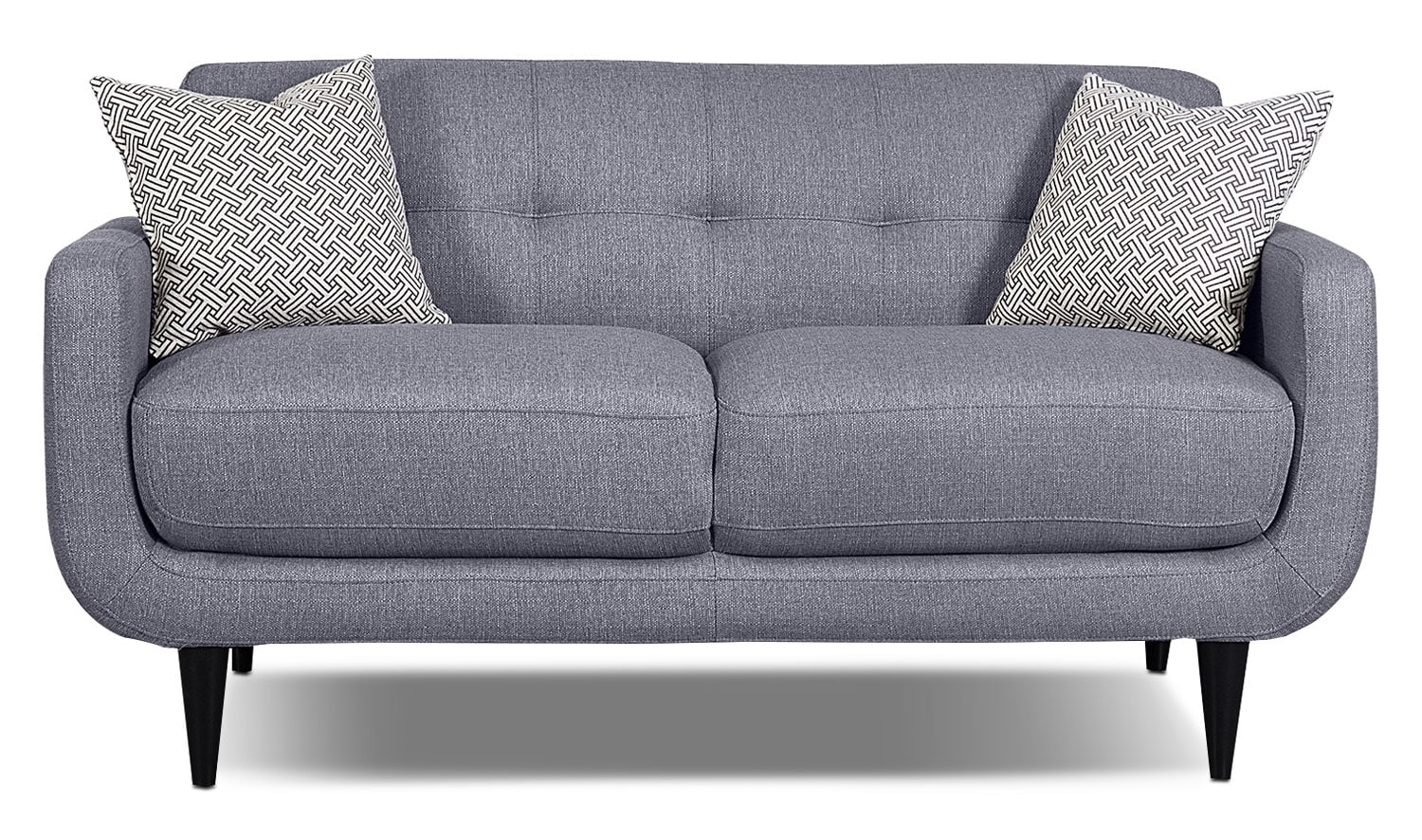 Galo Linen-Look Fabric Loveseat - Granite