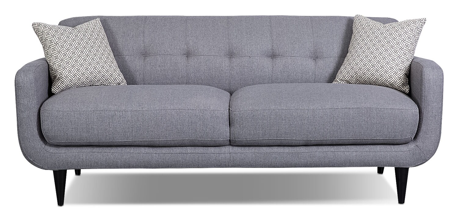 Galo Linen-Look Fabric Sofa - Granite