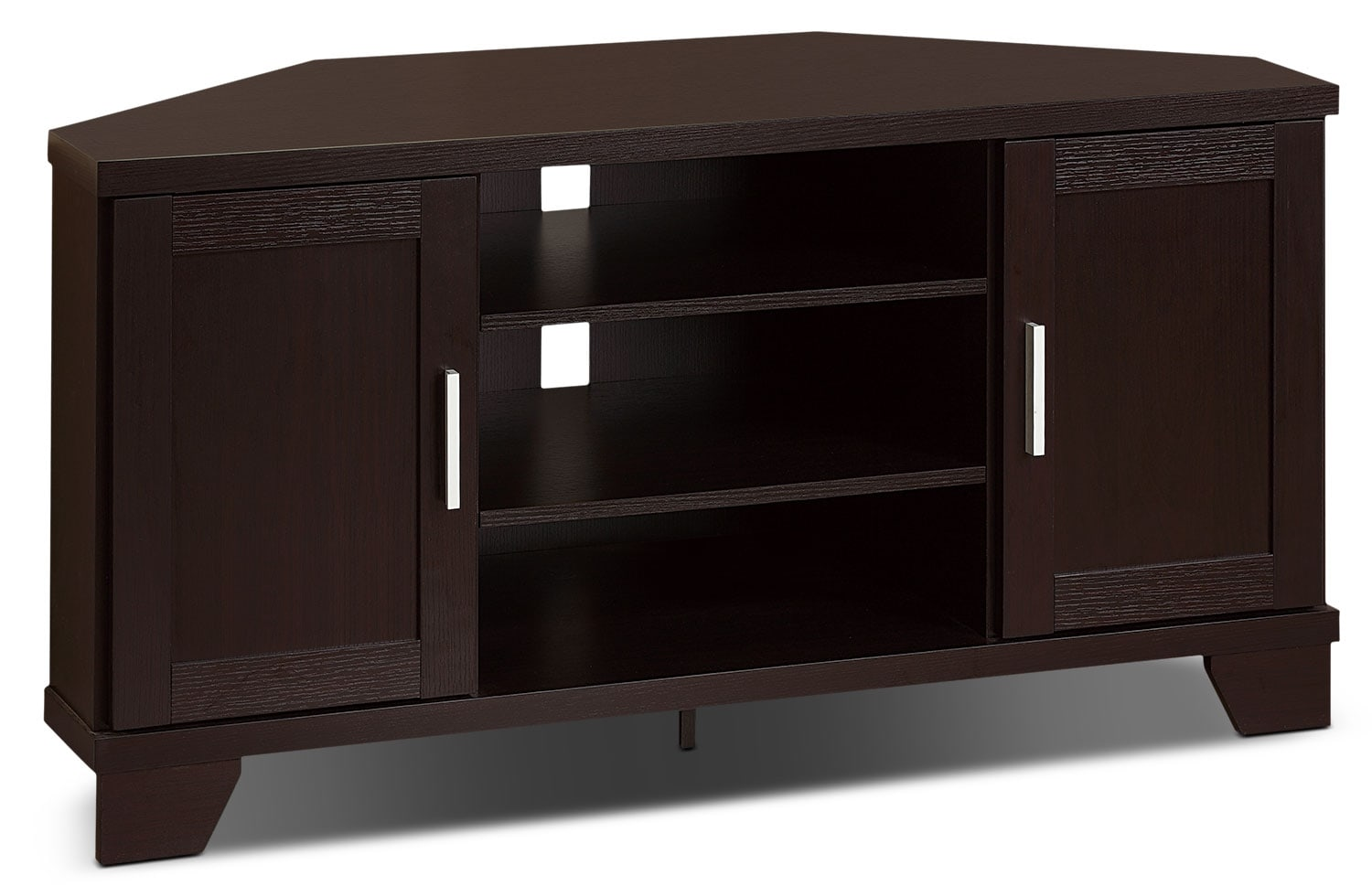 bailey 47 corner tv stand the brick. Black Bedroom Furniture Sets. Home Design Ideas