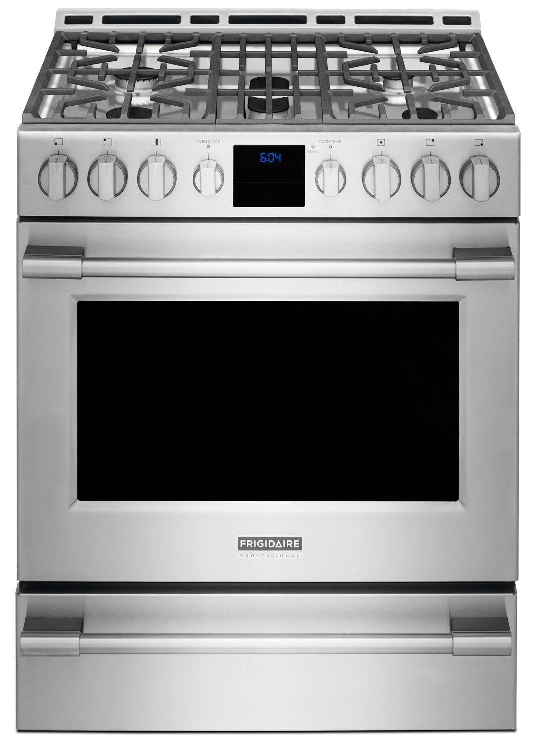 Cooking Products - Frigidaire Professional® 30'' Front-Control Freestanding Gas Range - Stainless Steel