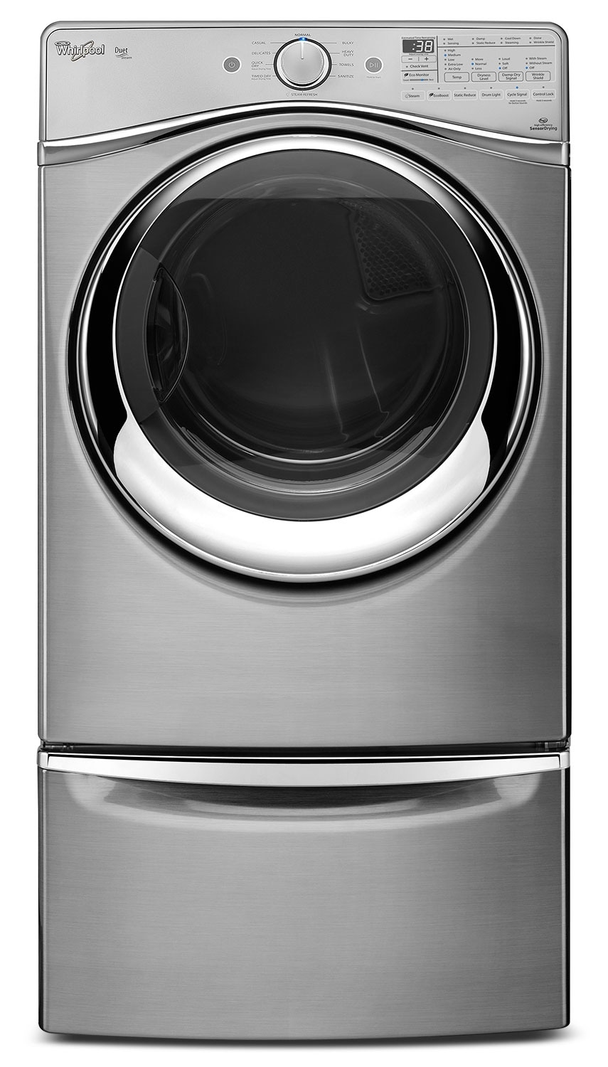Washers and Dryers - Whirlpool 7.3 Cu. Ft. Duet® High-Efficiency Gas Dryer - Diamond Steel