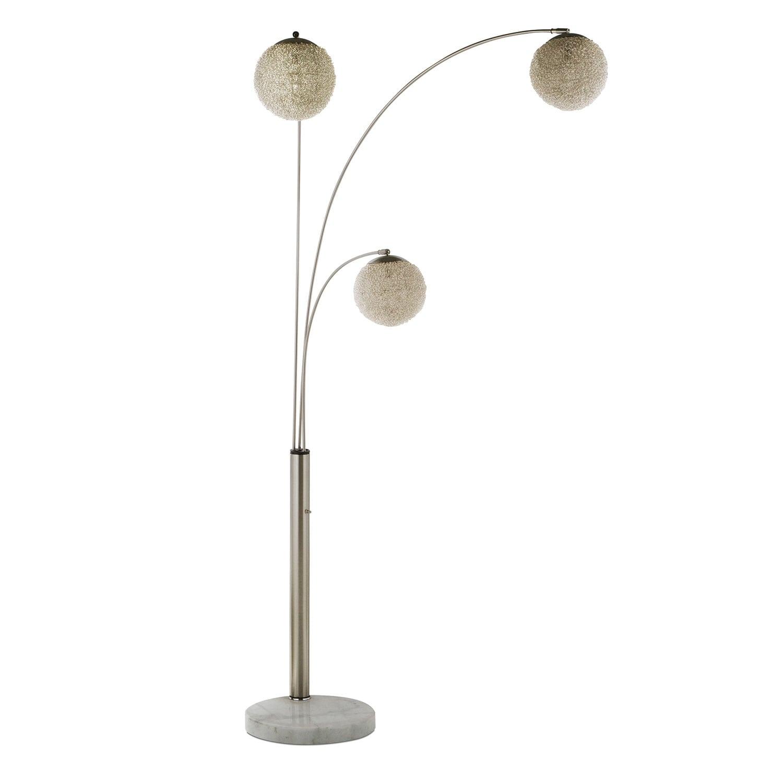 metal saturn arc floor lamp american signature furniture. Black Bedroom Furniture Sets. Home Design Ideas