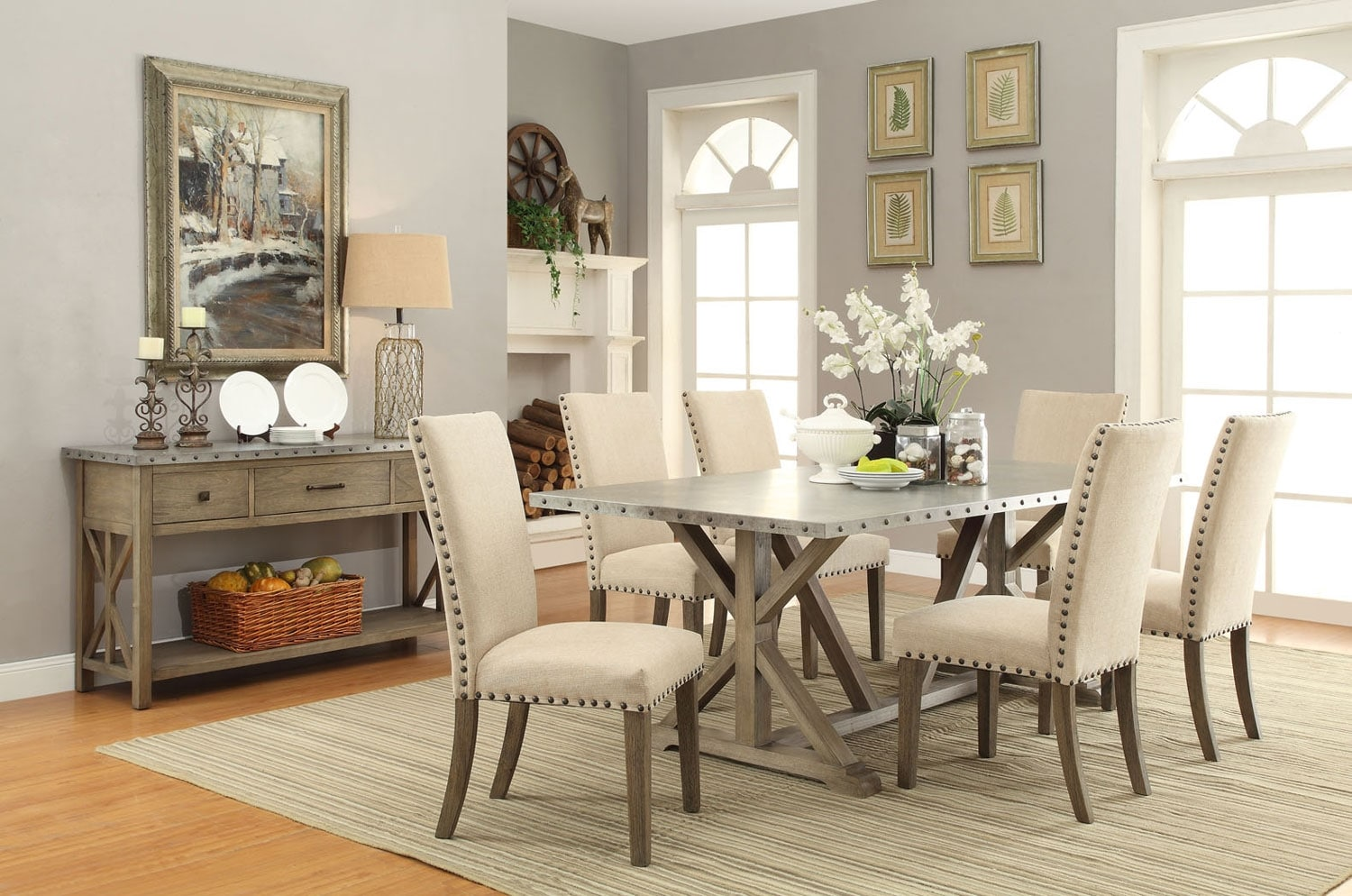 Dining Room Furniture - Galvin 8-Piece Dining Package
