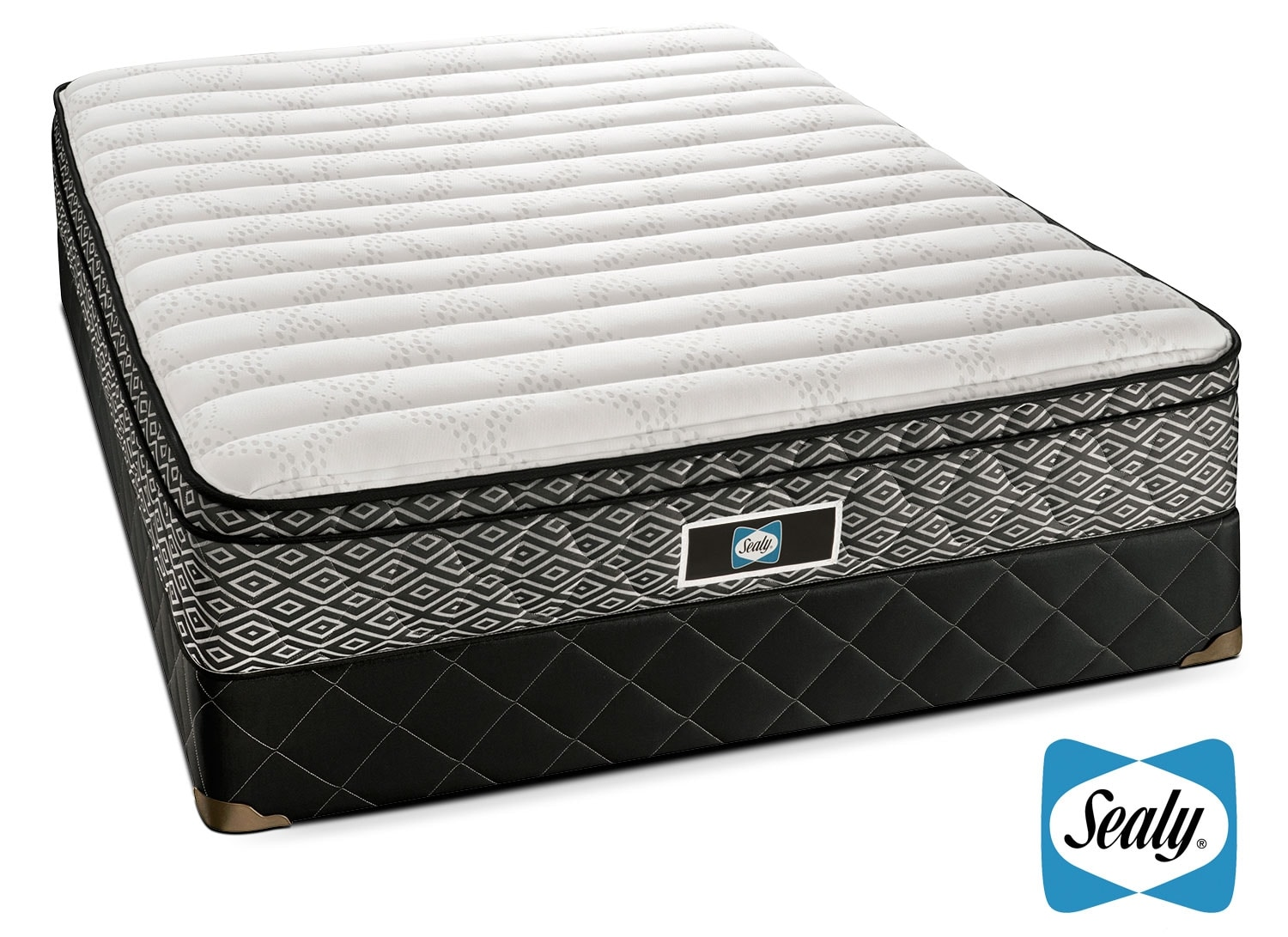 Mattresses and Bedding - Sealy Forum Full Mattress/Boxspring Set