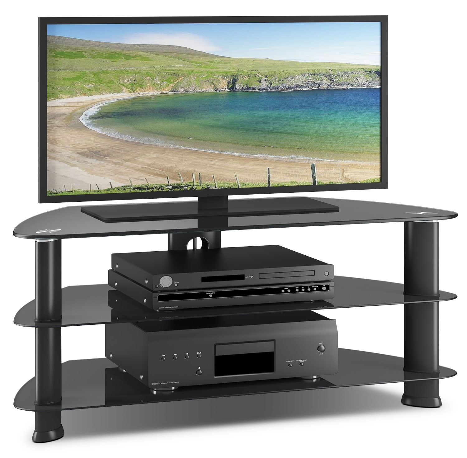 triton 55 corner tv stand the brick. Black Bedroom Furniture Sets. Home Design Ideas