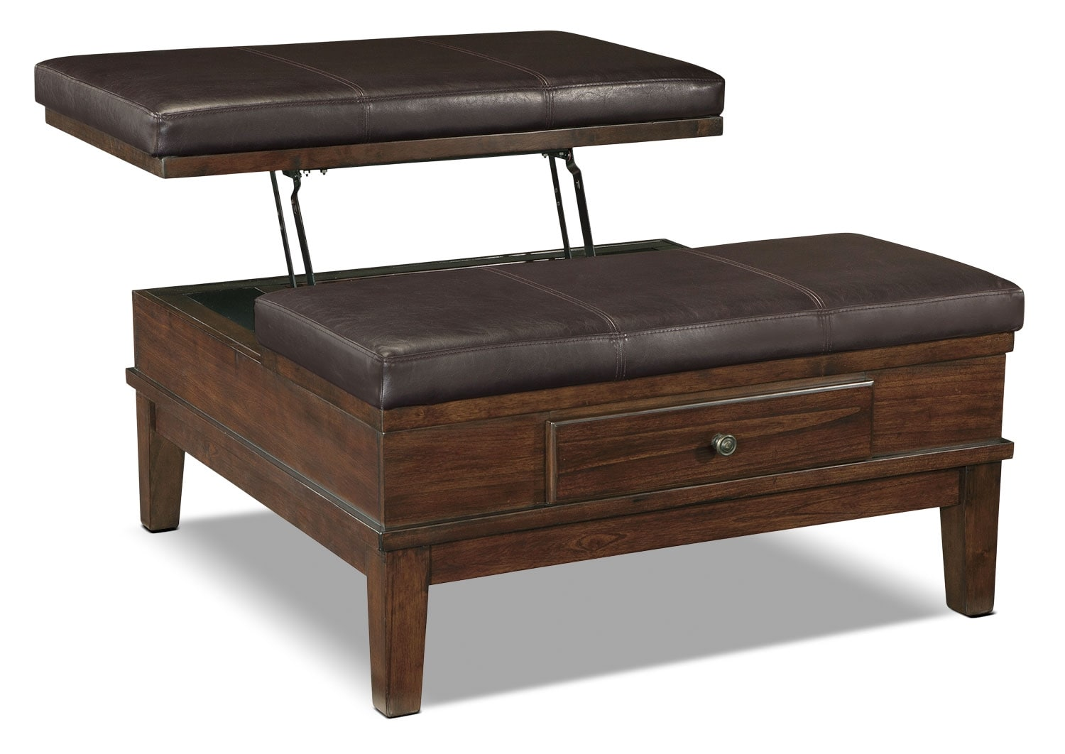 Accent and Occasional Furniture - Gately Ottoman Coffee Table with Lift-Top
