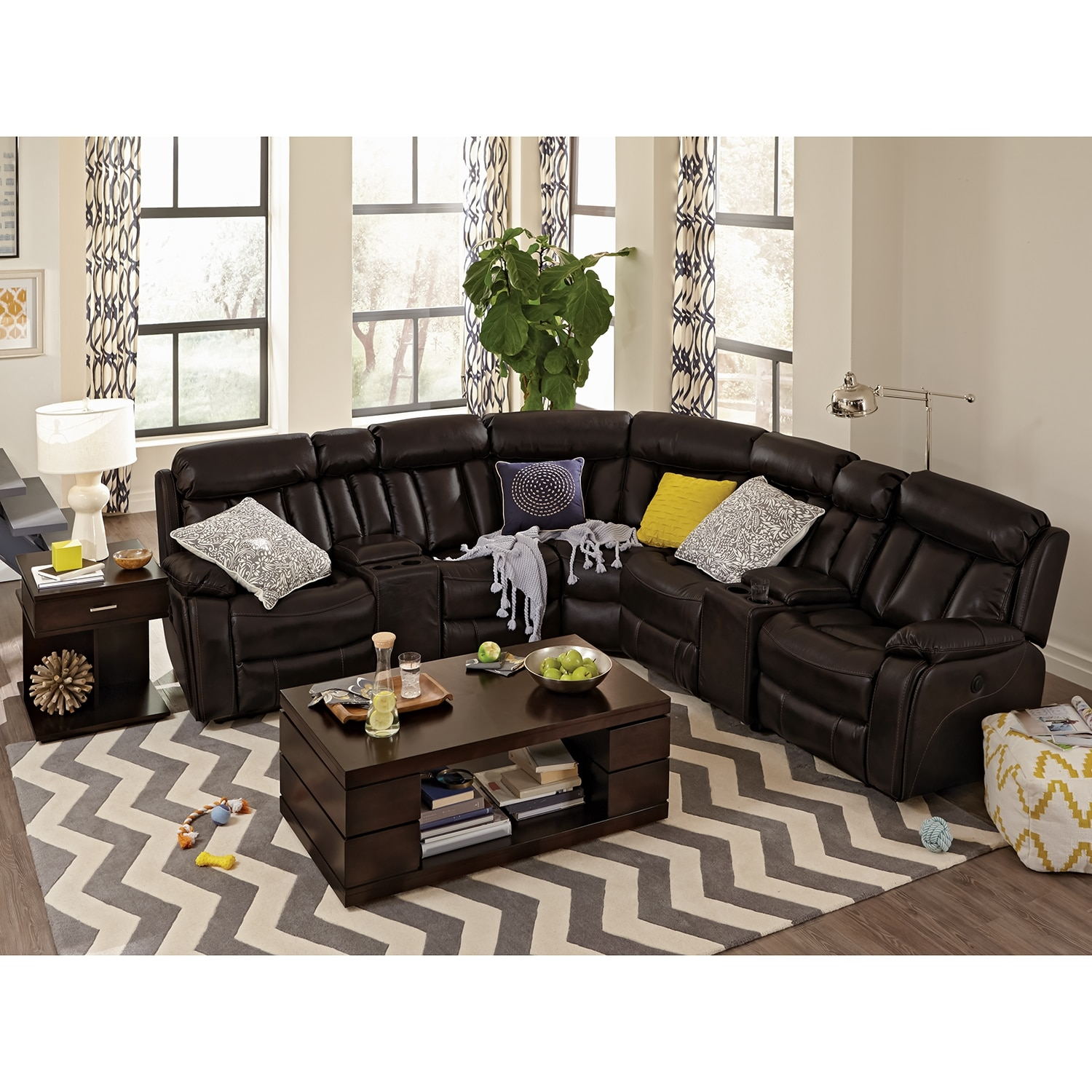 Diablo 7 Pc Power Reclining Sectional Value City Furniture