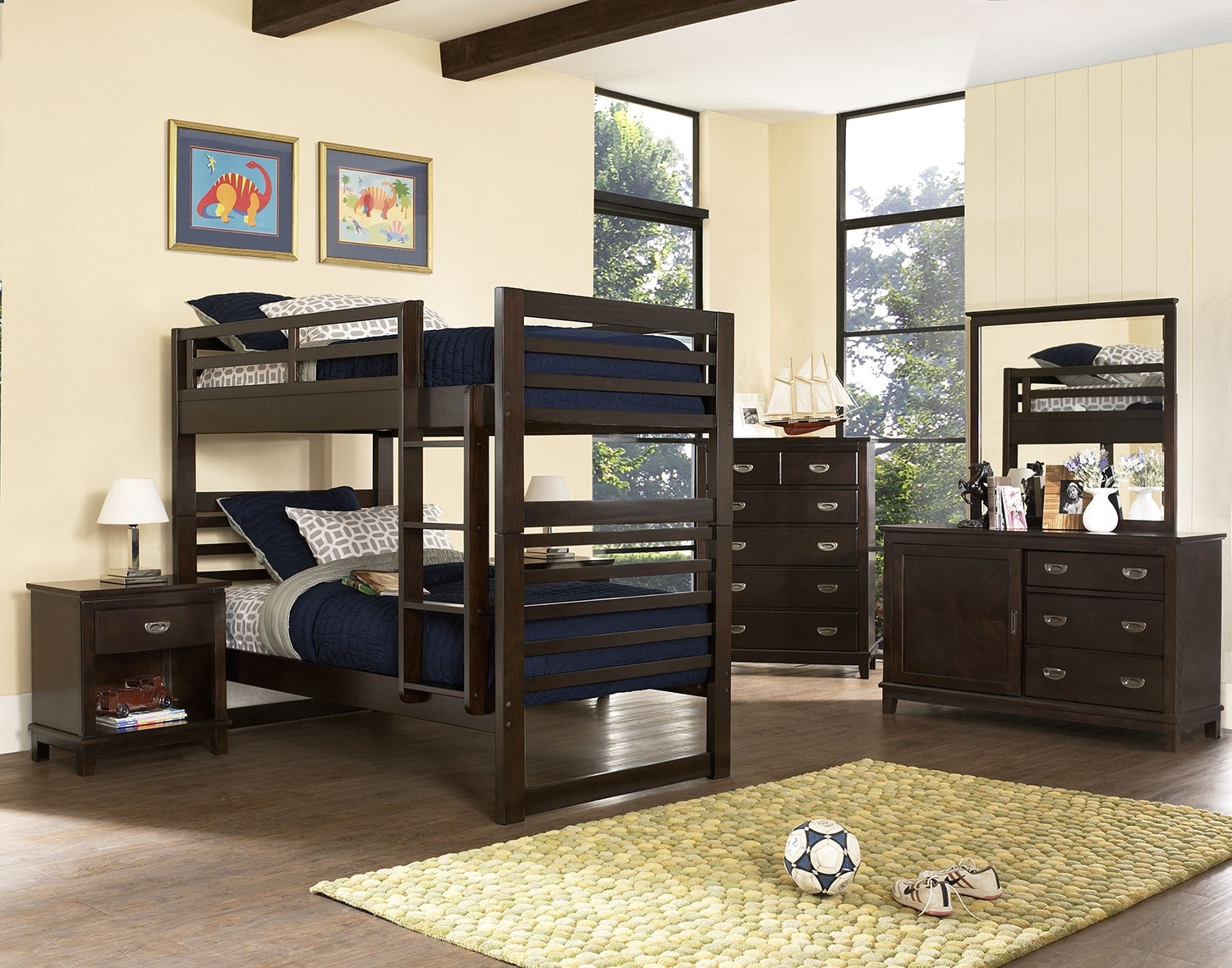 Chadwick 8-Piece Bedroom Package with Twin Bunk Bed – Espresso