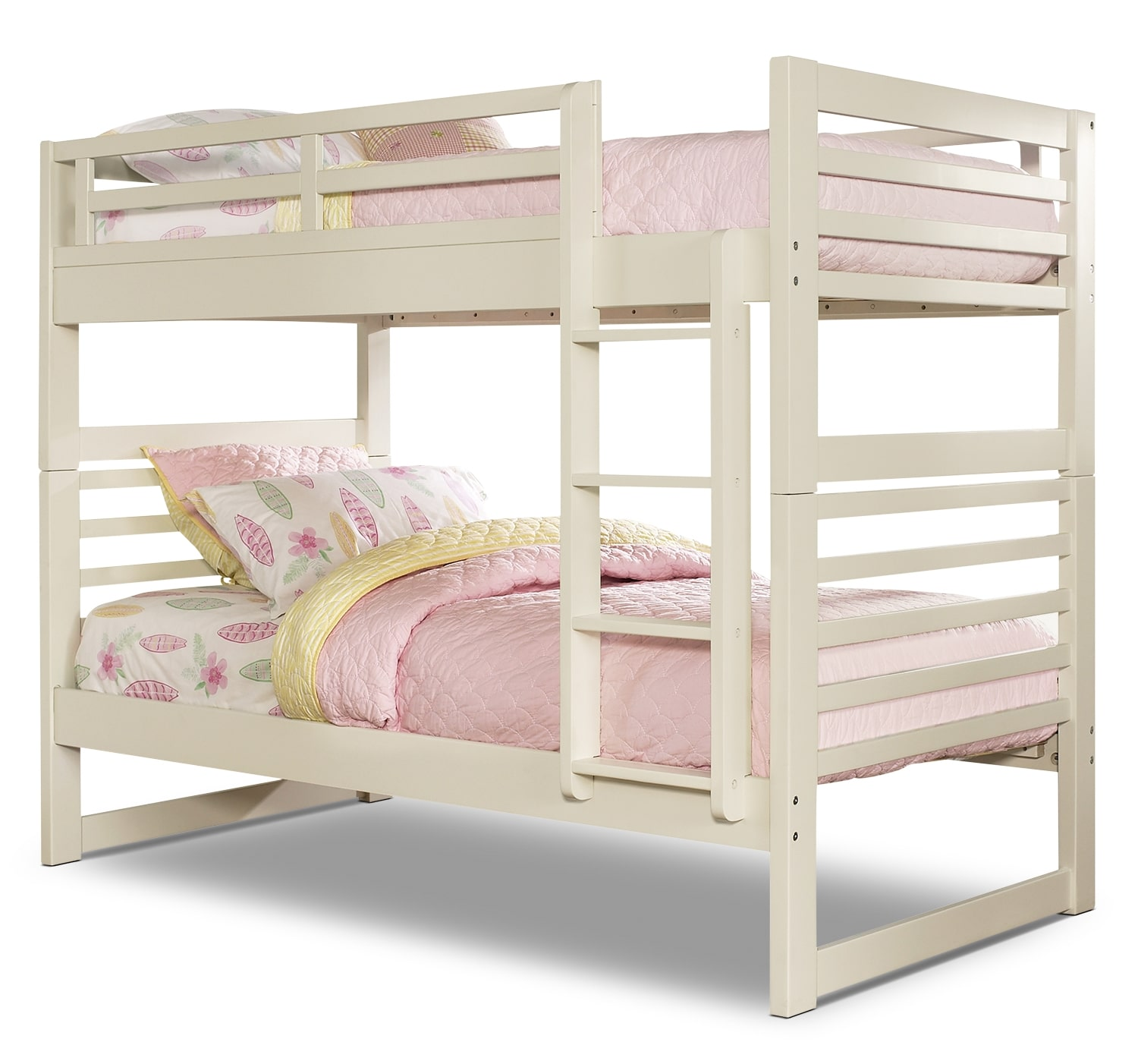 Kids Furniture - Chadwick Twin/Twin Bunk Bed – White