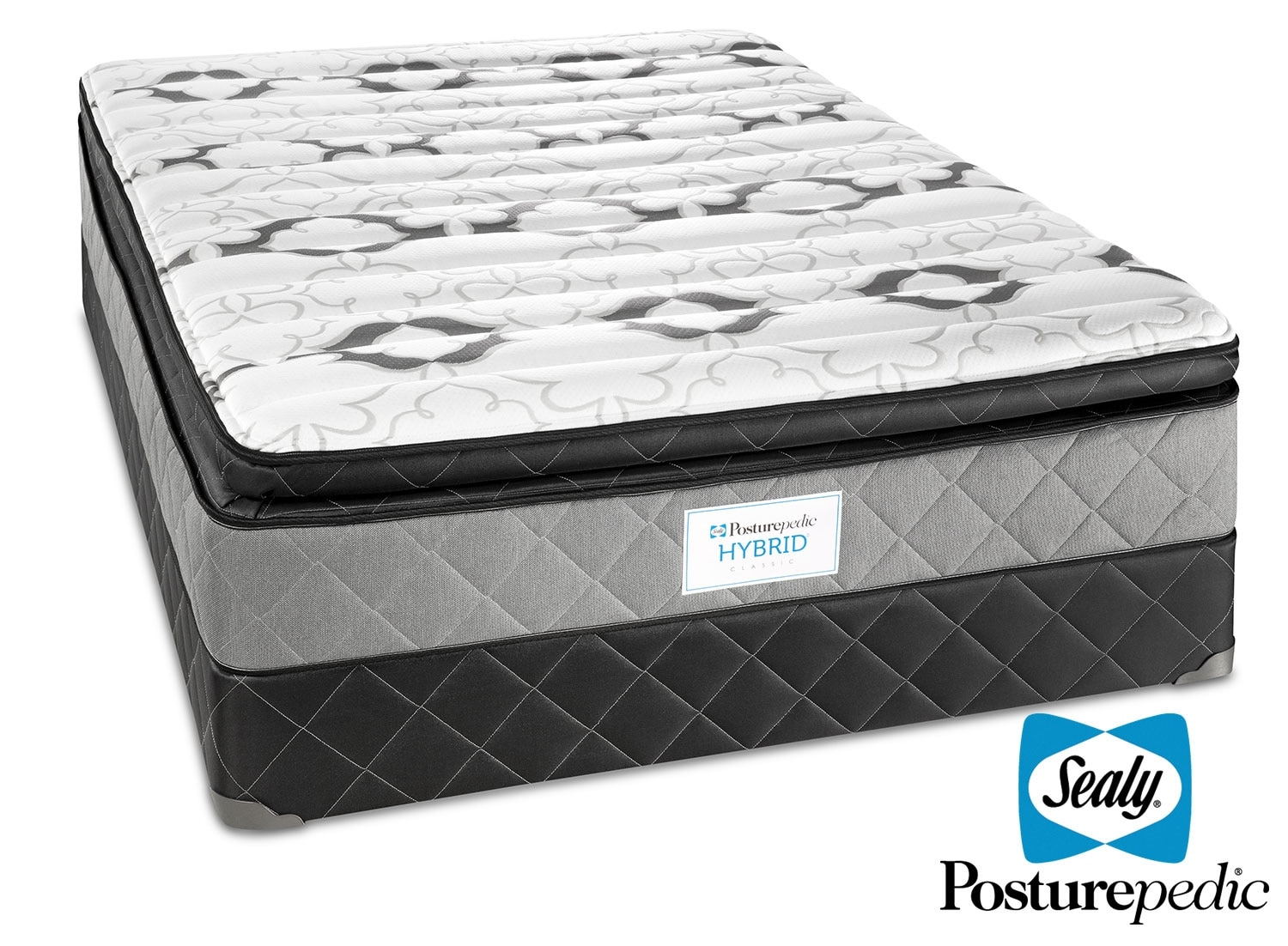 Mattresses and Bedding - Sealy Fable Plush Queen Mattress/Boxspring Set