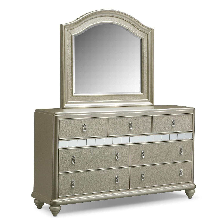Serena Dresser Mirror Value City Furniture