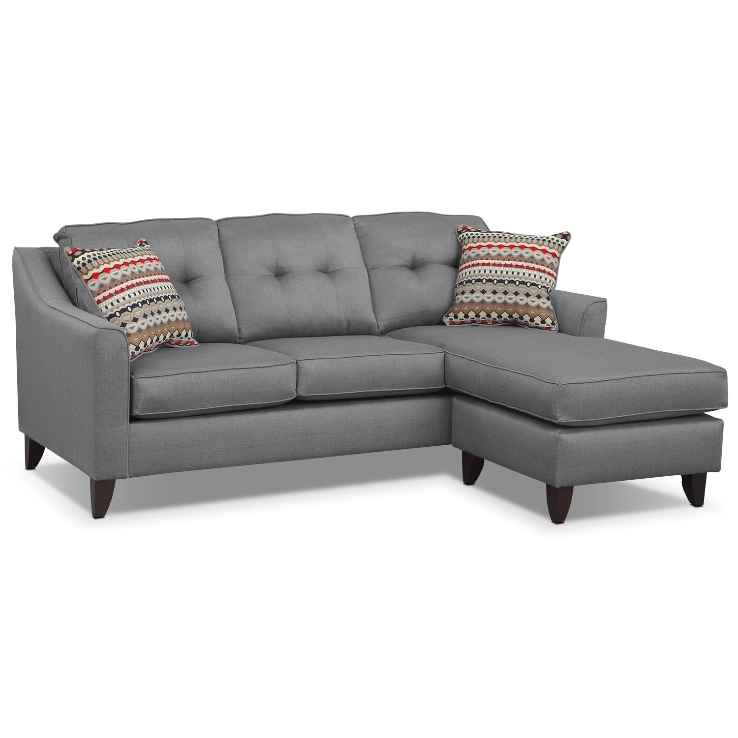 Value City Furniture 2016 Black Friday Ad: Marco Gray Chaise Sofa