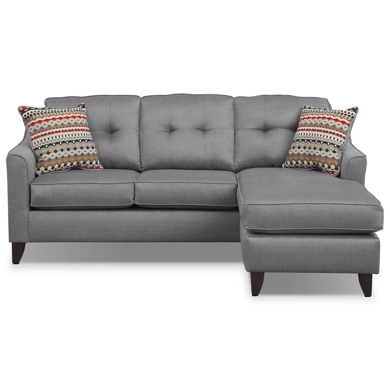 Marco Chaise Sofa Gray American Signature Furniture