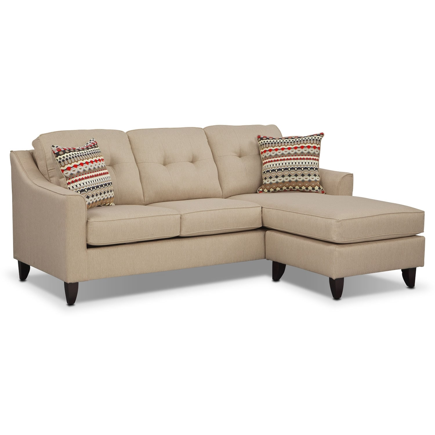 Value City Furniture Clearance Center: Marco Chaise Sofa - Cream