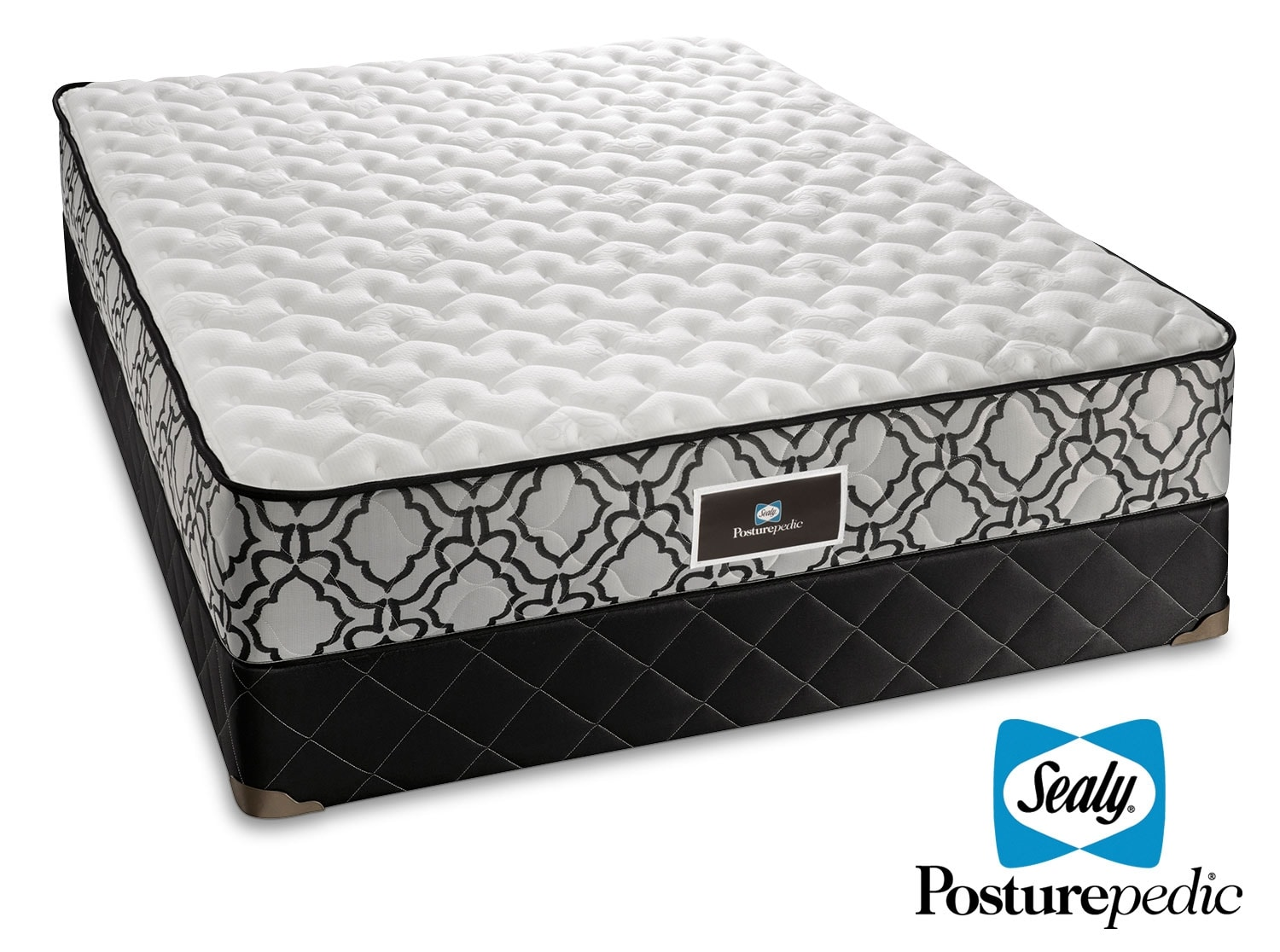 Sealy saga queen mattress boxspring set leon 39 s Queen bed and mattress