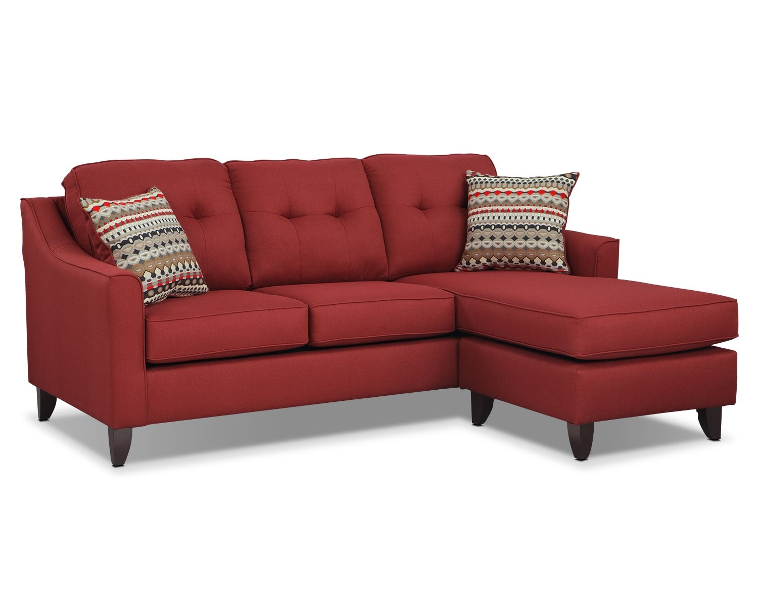 Marco Red Sectional Living Room Collection Value City Furniture