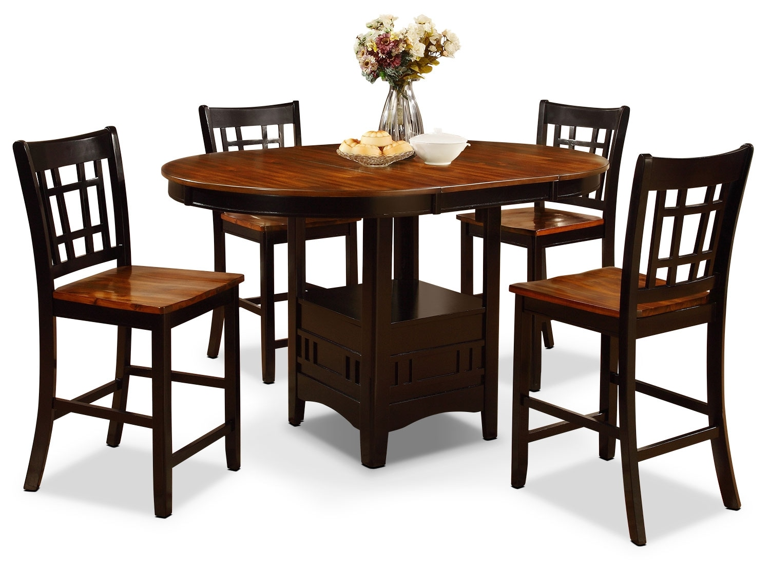 Dining Room Furniture - Dara 5-Piece Counter-Height Dining Package
