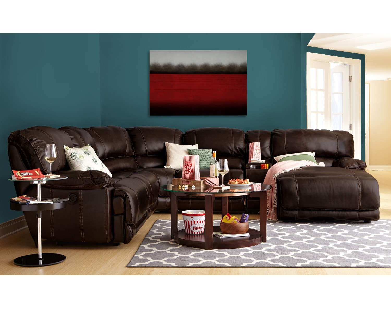 Living Room Furniture - The Clinton Brown Collection - 6 Pc. Power Reclining Sectional