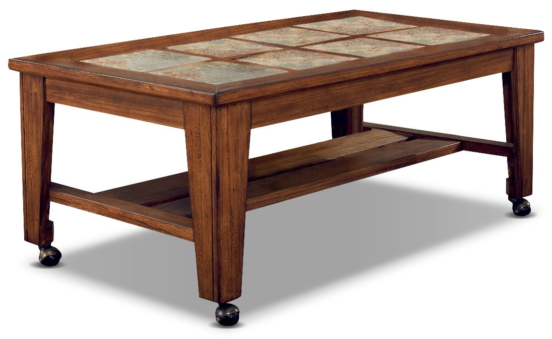 Savannah coffee table with casters united furniture warehouse Coffee tables with casters