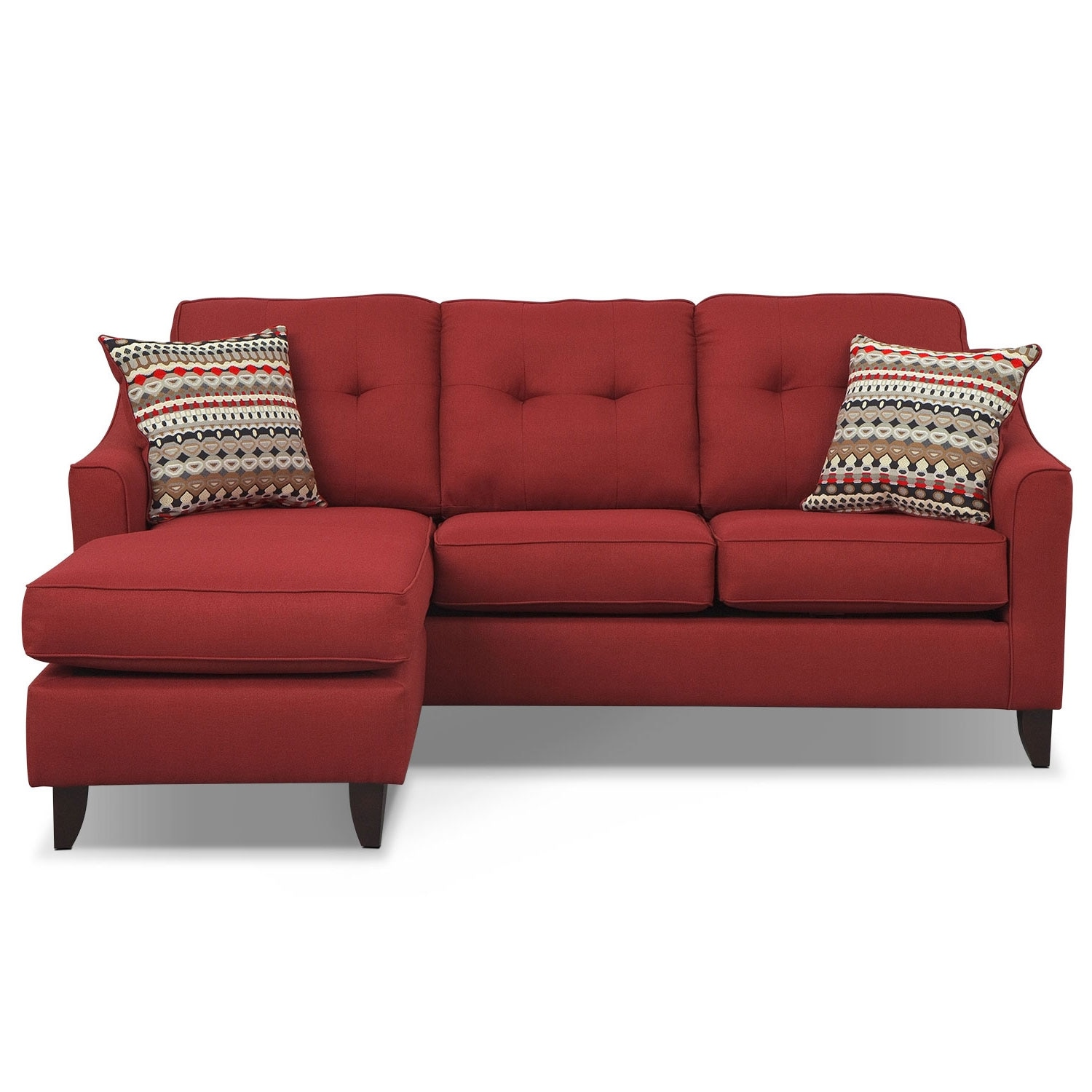 Marco Red Chaise Sofa