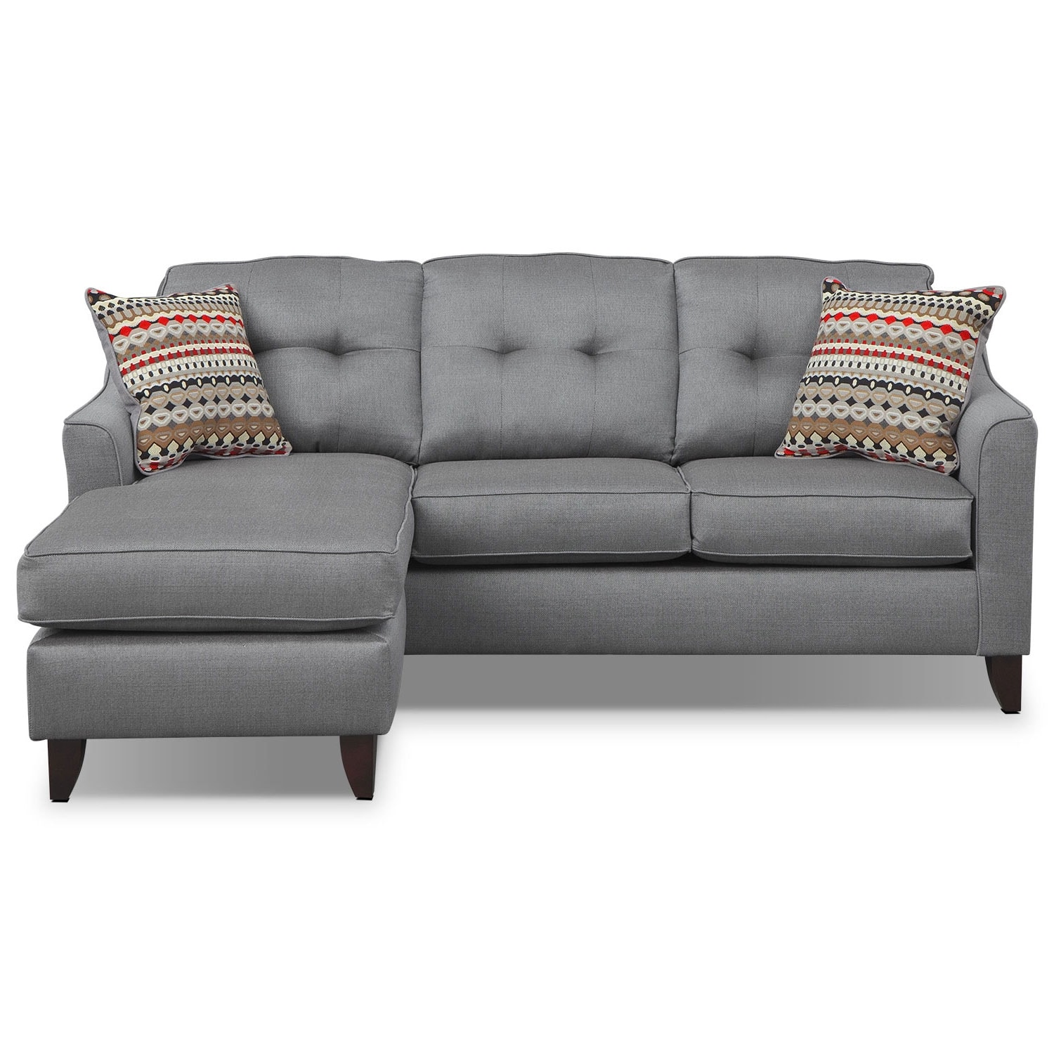 Marco Gray Chaise Sofa  Value City Furniture