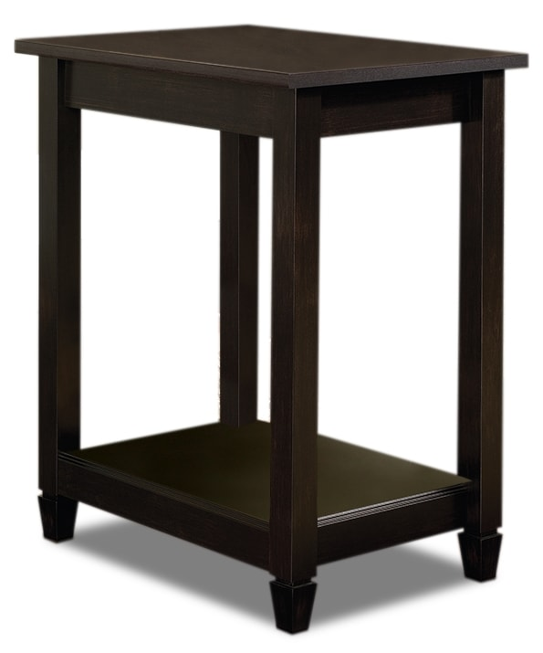 Accent and Occasional Furniture - Edge Water End Table – Estate Black