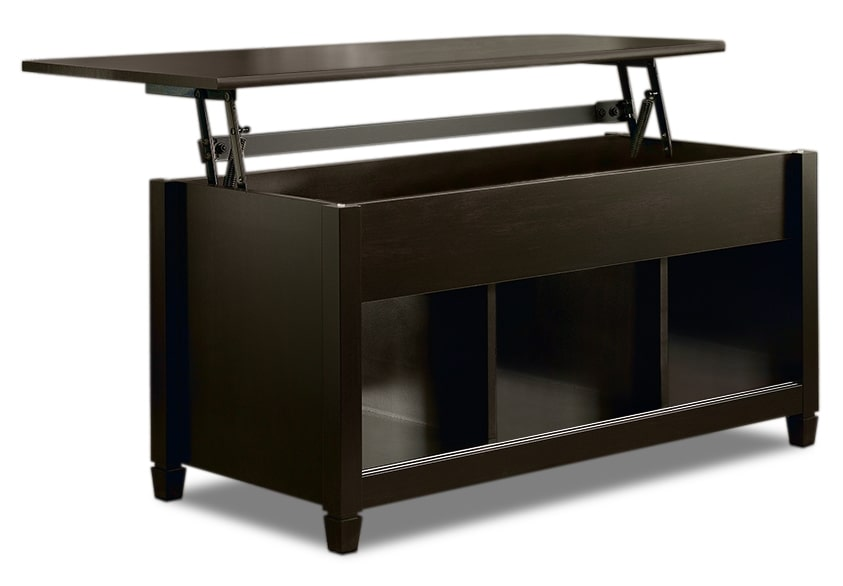 Edge water coffee table with lift top estate black the brick Black lift top coffee tables
