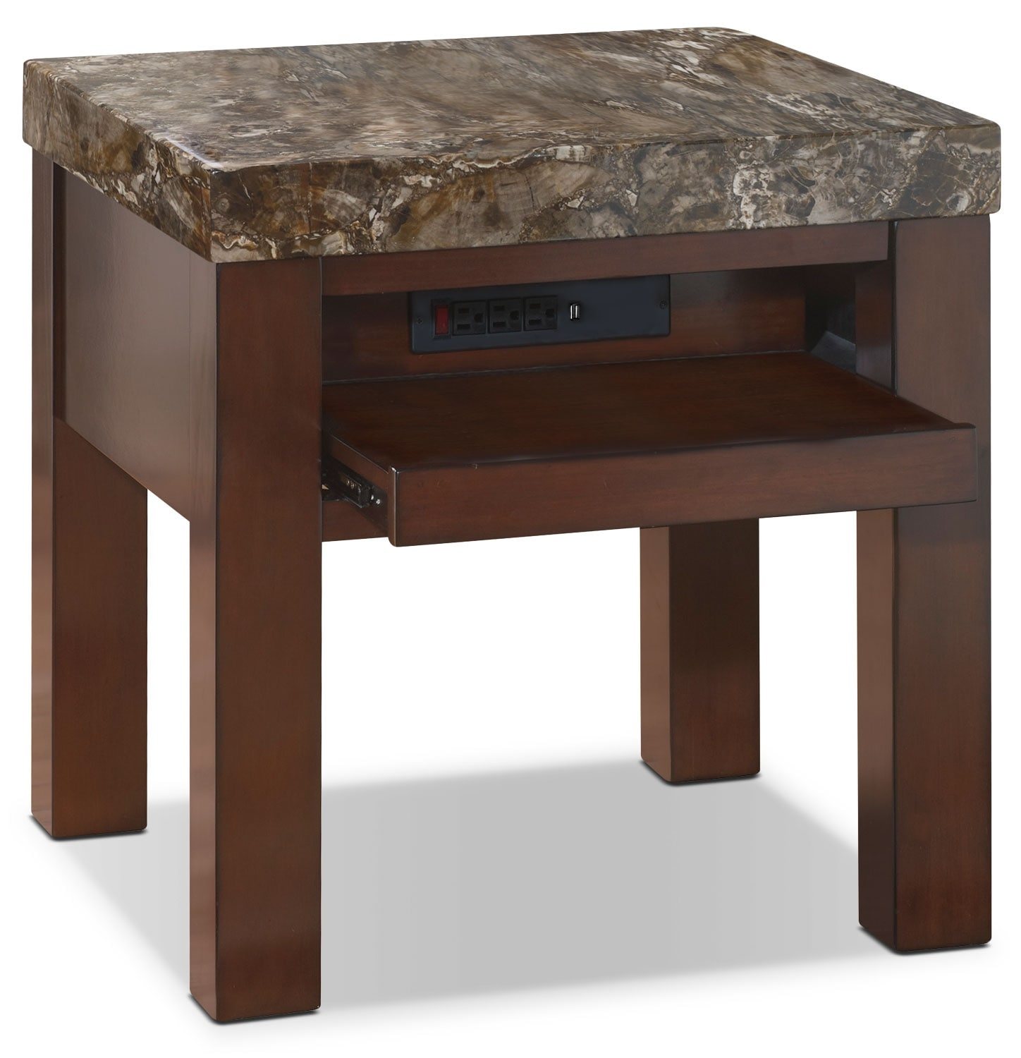 Accent and Occasional Furniture - Emerson End Table with Pull-Out Tray