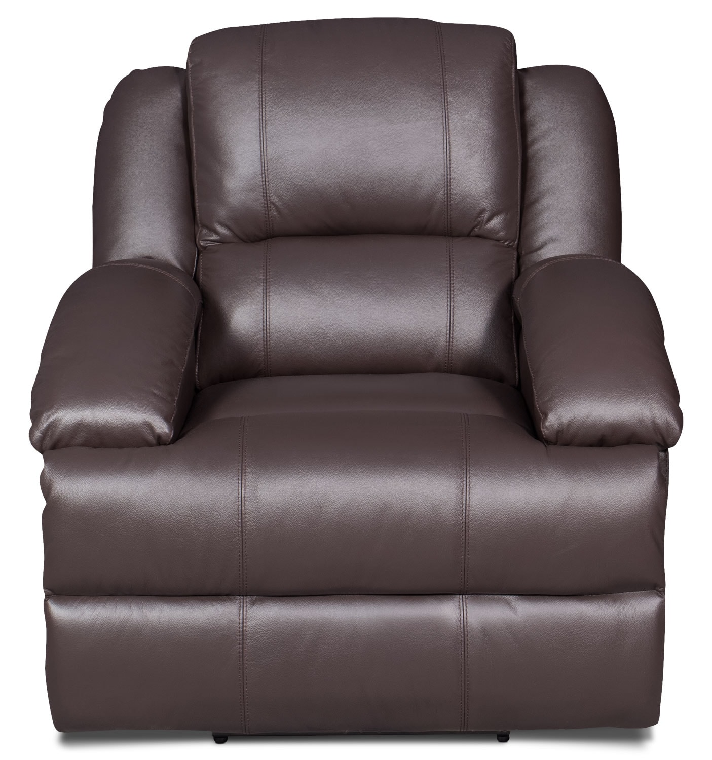 Living Room Furniture - Luka Genuine Leather Power Reclining Chair - Brown