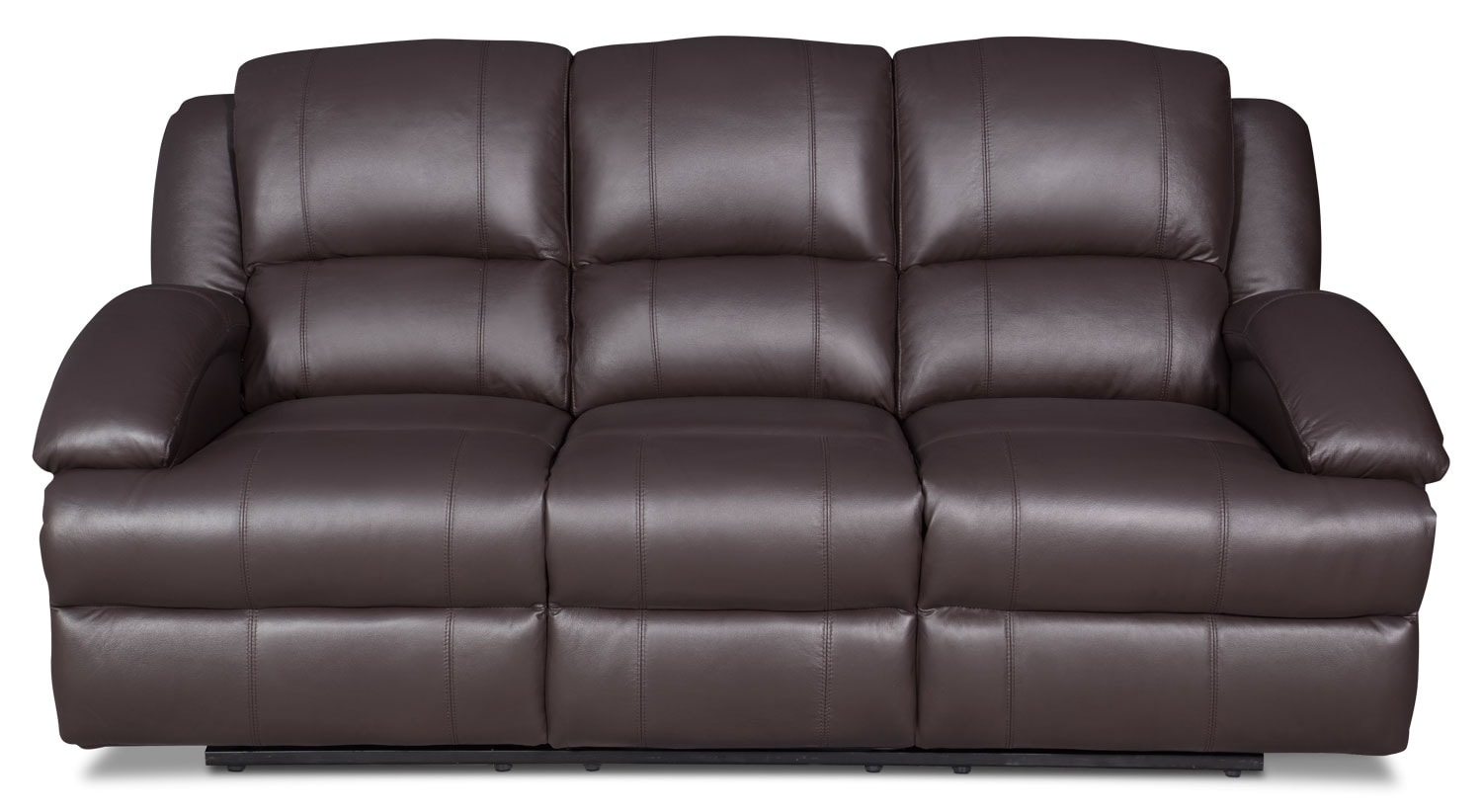 Luka genuine leather reclining sofa brown united for Real leather sofas