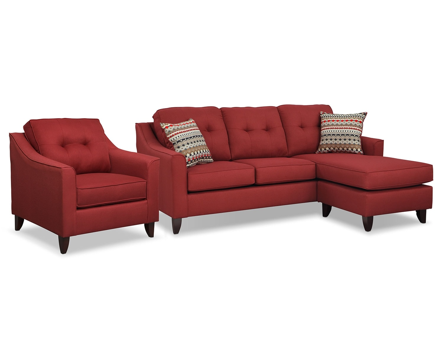 [Marco Red Sectional Living Room Collection]