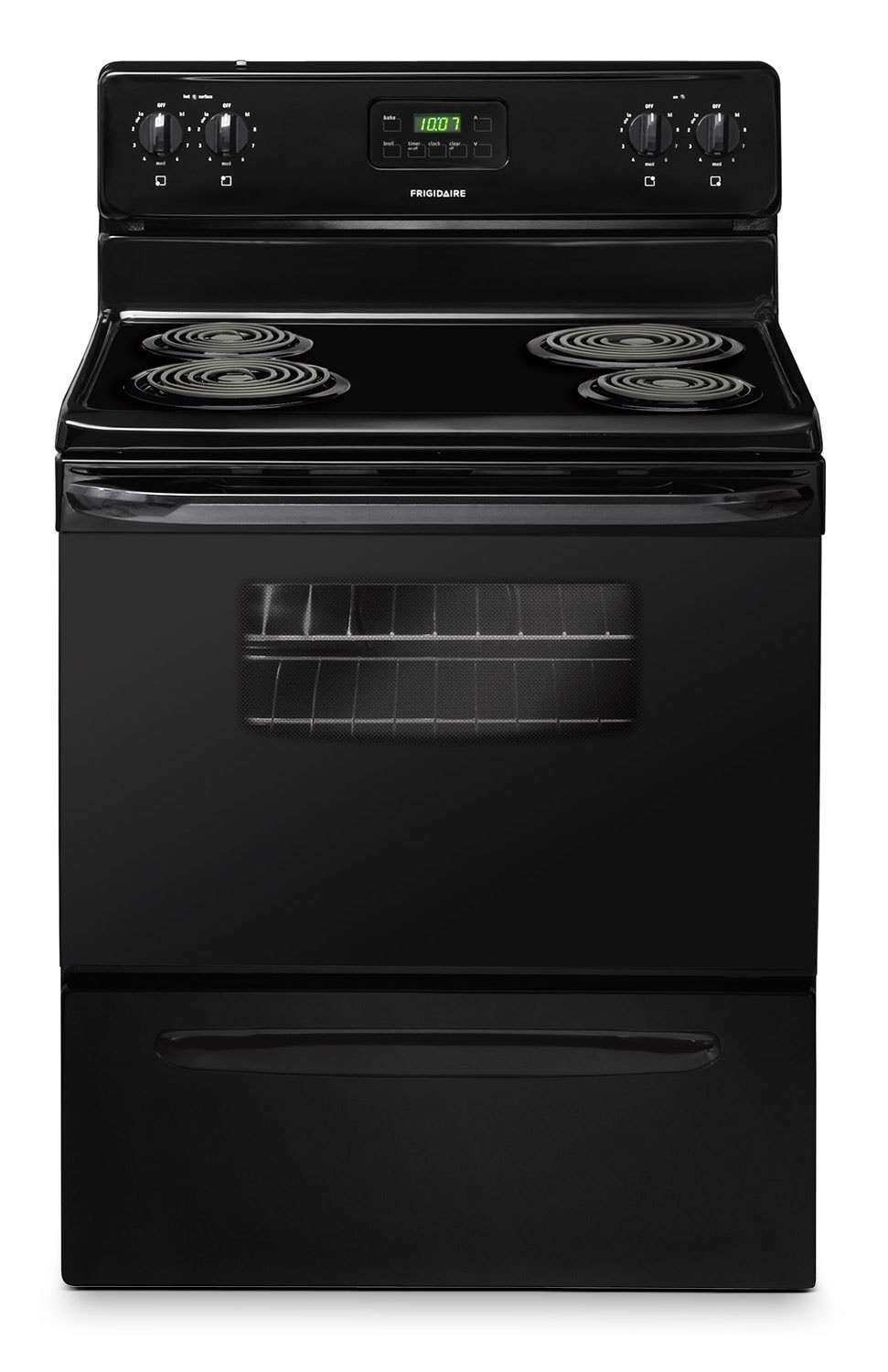 Cooking Products - Frigidaire Black Freestanding Electric Range (4.8 Cu. Ft.) - CFEF3012PB