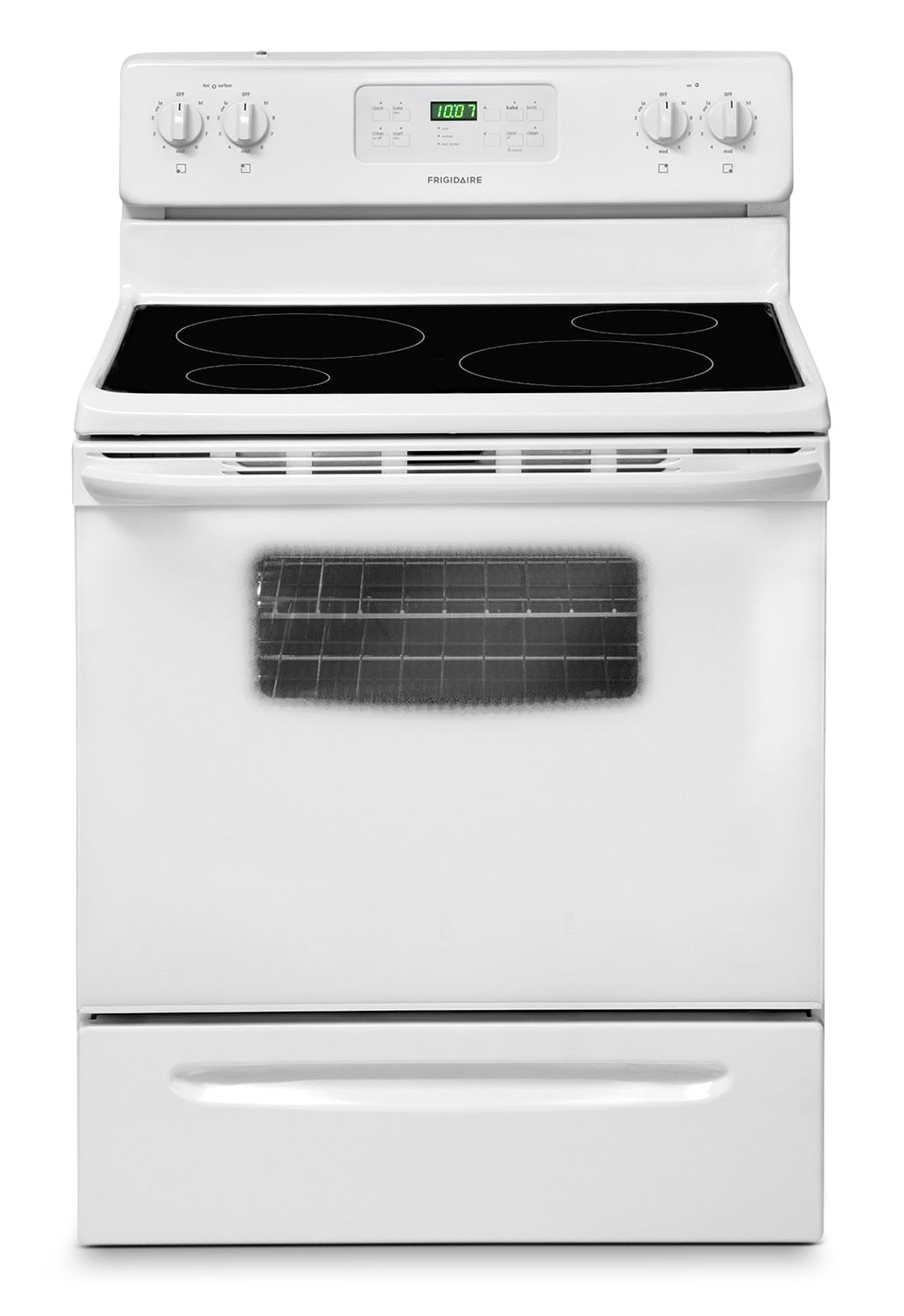[Frigidaire White Freestanding Electric Range (5.3 Cu. Ft.) - CFEF3014LW]