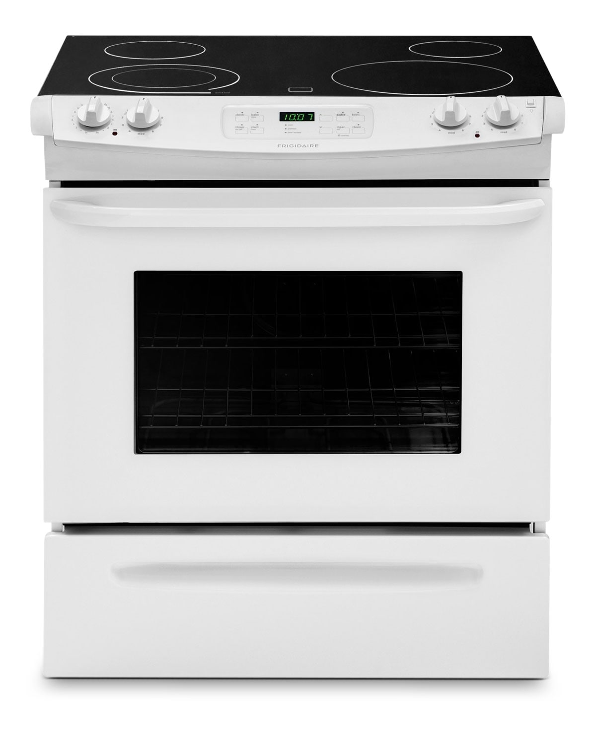 Frigidaire White Slide-In Electric Range (4.6 Cu. Ft.) - CFES3025PW