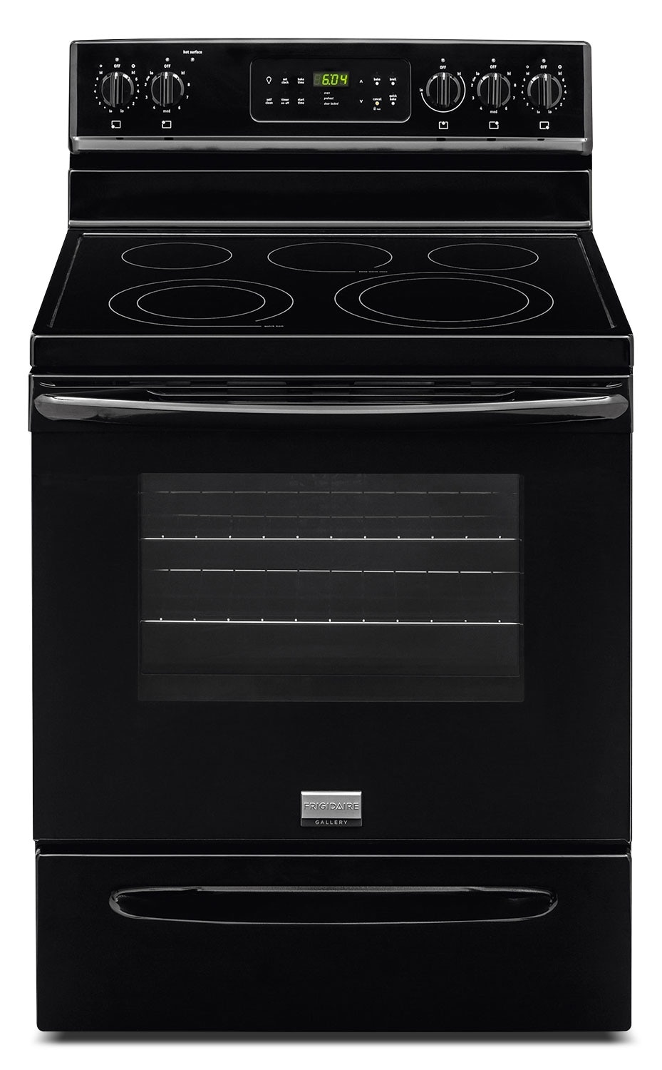 Cooking Products - Frigidaire Gallery Black Freestanding Electric Convection Range (5.7 Cu. Ft.) - CGEF3035RB