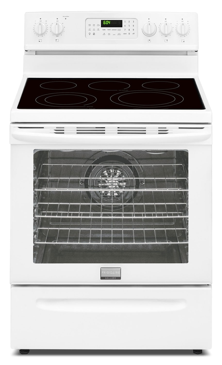 [Frigidaire Gallery White Freestanding Electric Convection Range (5.8 Cu. Ft.) - CGEF3058RW]