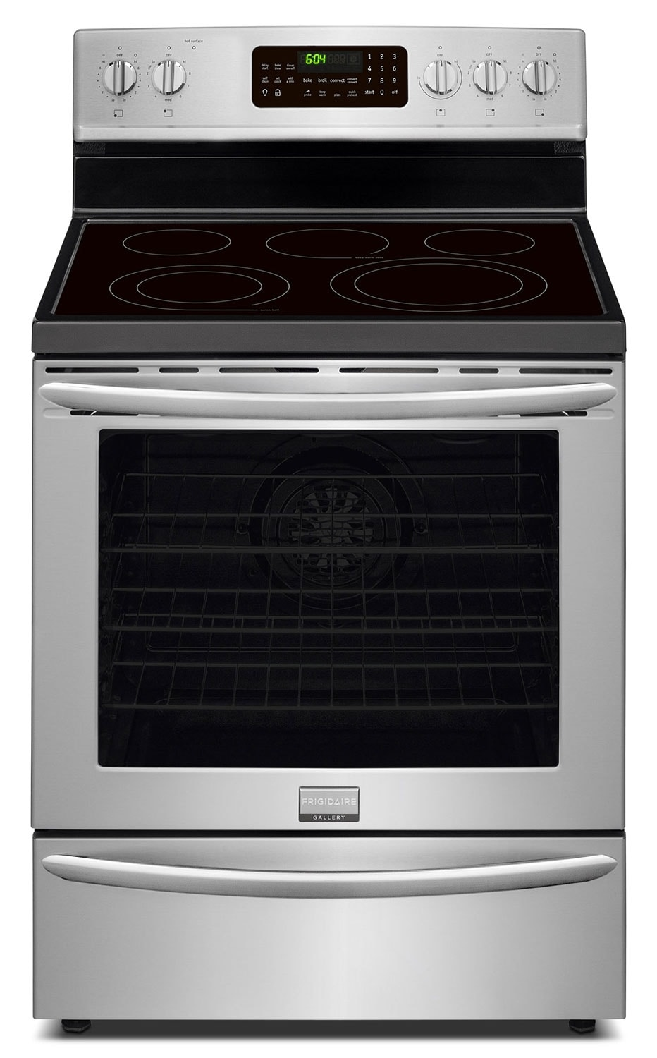 Cooking Products - Frigidaire Gallery Stainless Steel Freestanding Electric Convection Range (5.8 Cu. Ft.) - CGEF3058RF