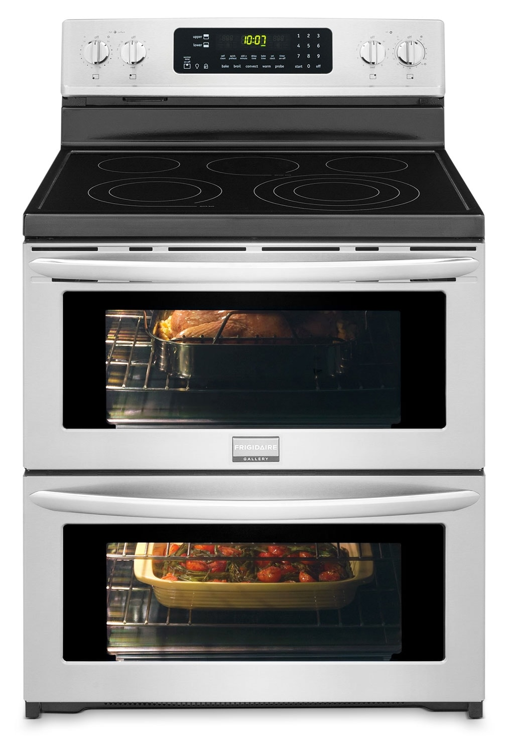 Cooking Products - Frigidaire Gallery Stainless Steel Freestanding Electric Double Oven (7.2 Cu. Ft.) - CGEF306TPF