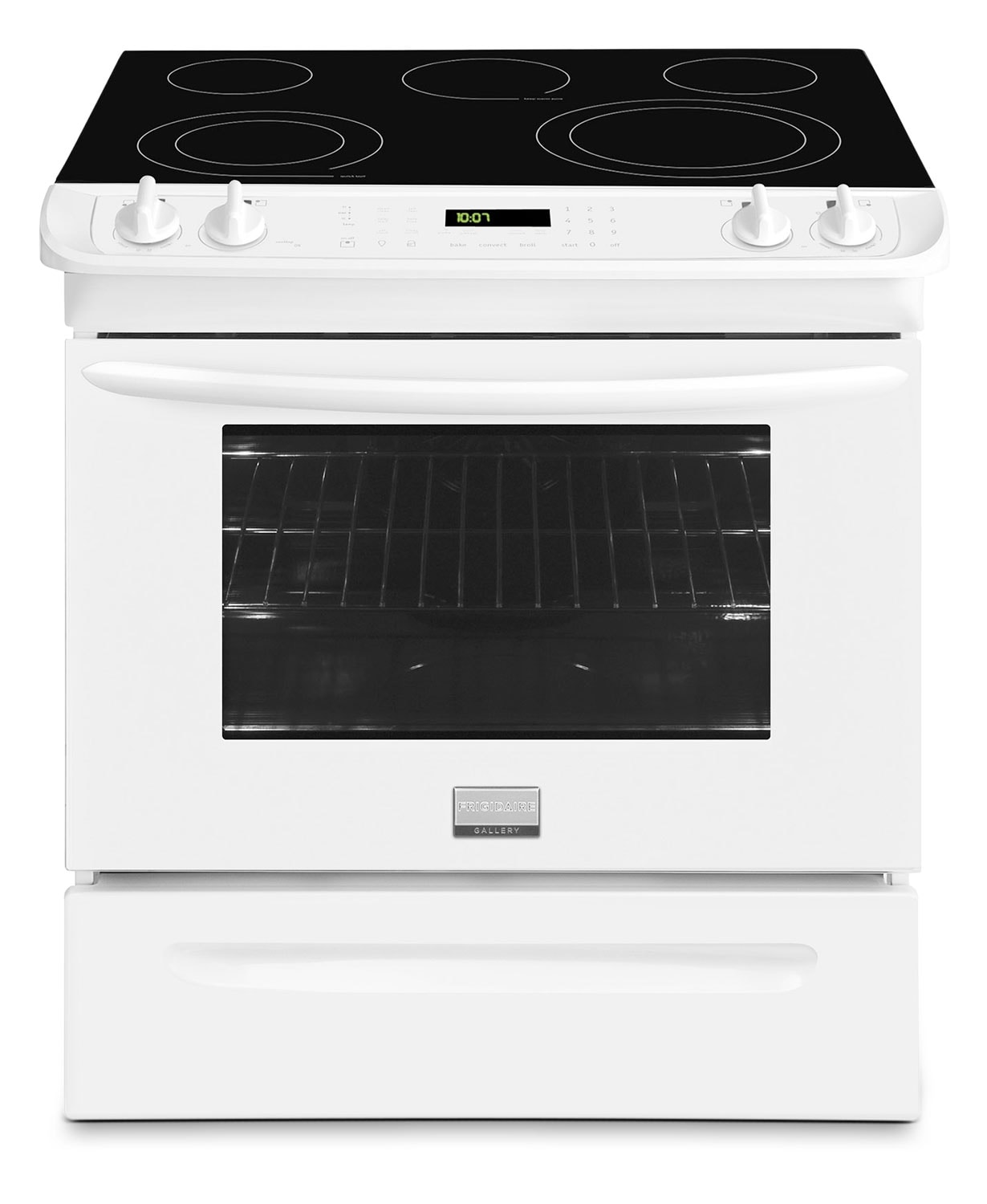 Frigidaire Gallery White Slide-In Electric Convection Range (4.6 Cu. Ft.) - CGES3065PW